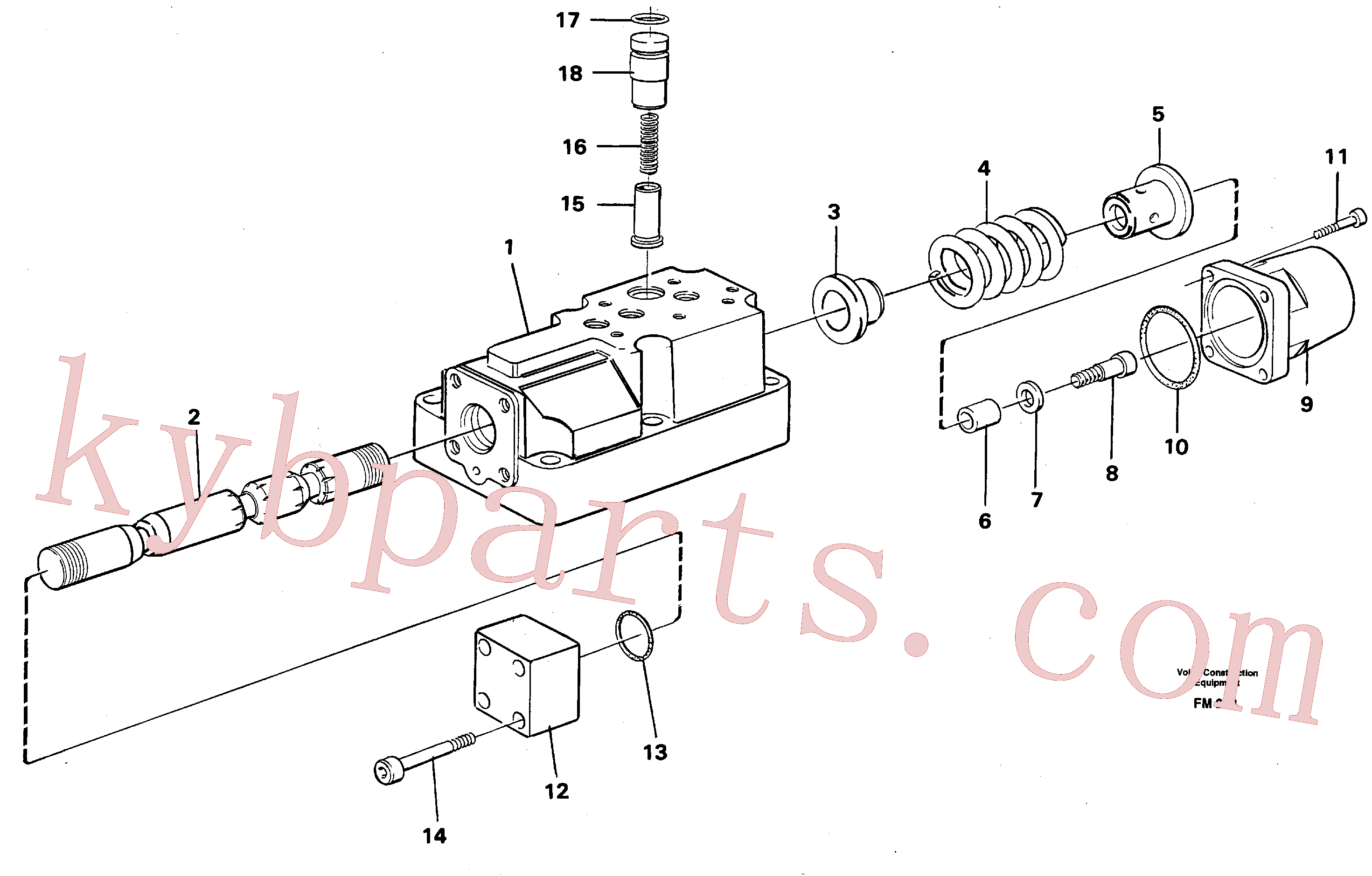 VOE14040408 for Volvo Four-way valve(FM253 assembly)