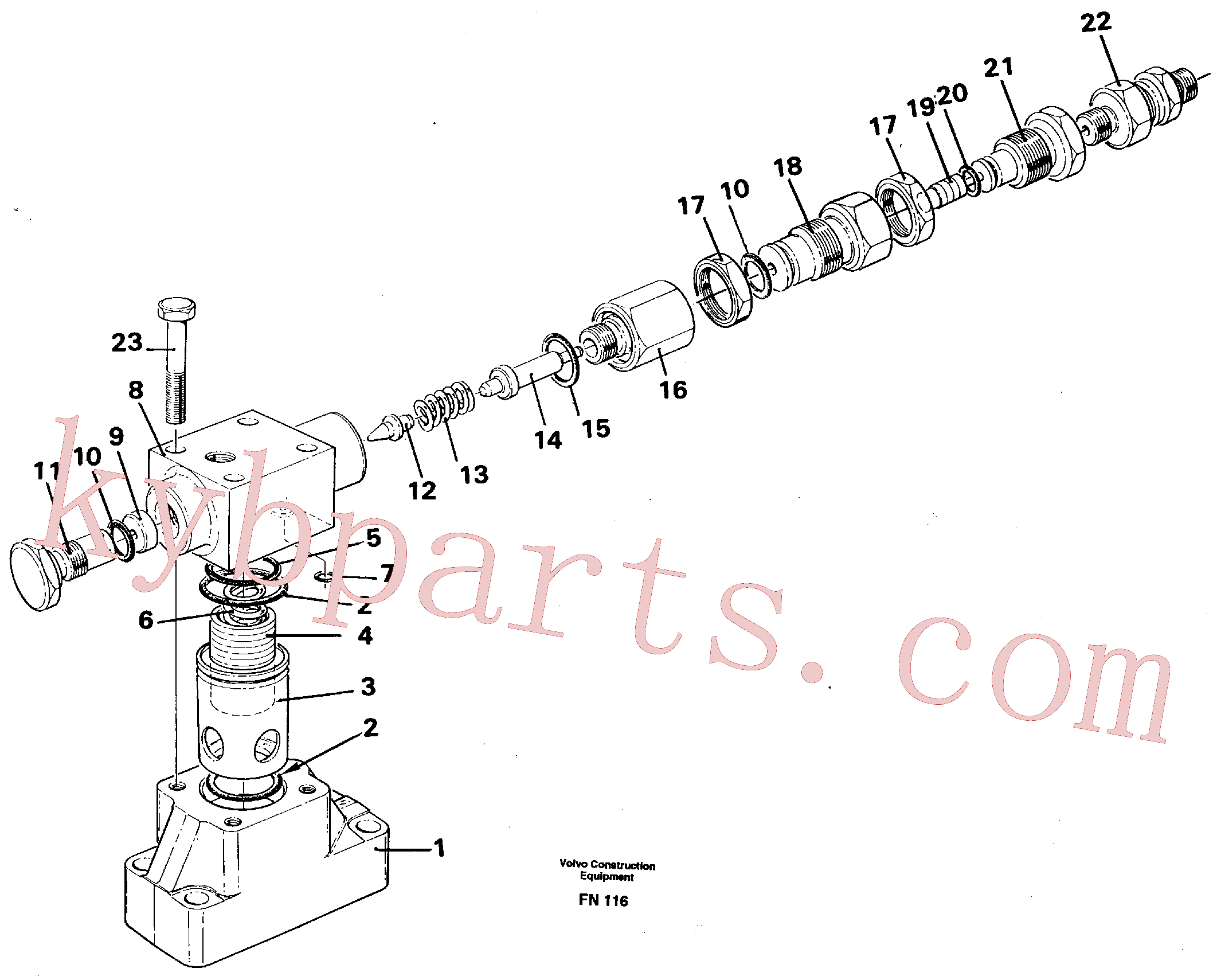 VOE14024293 for Volvo Pressure limiting valve(FN116 assembly)