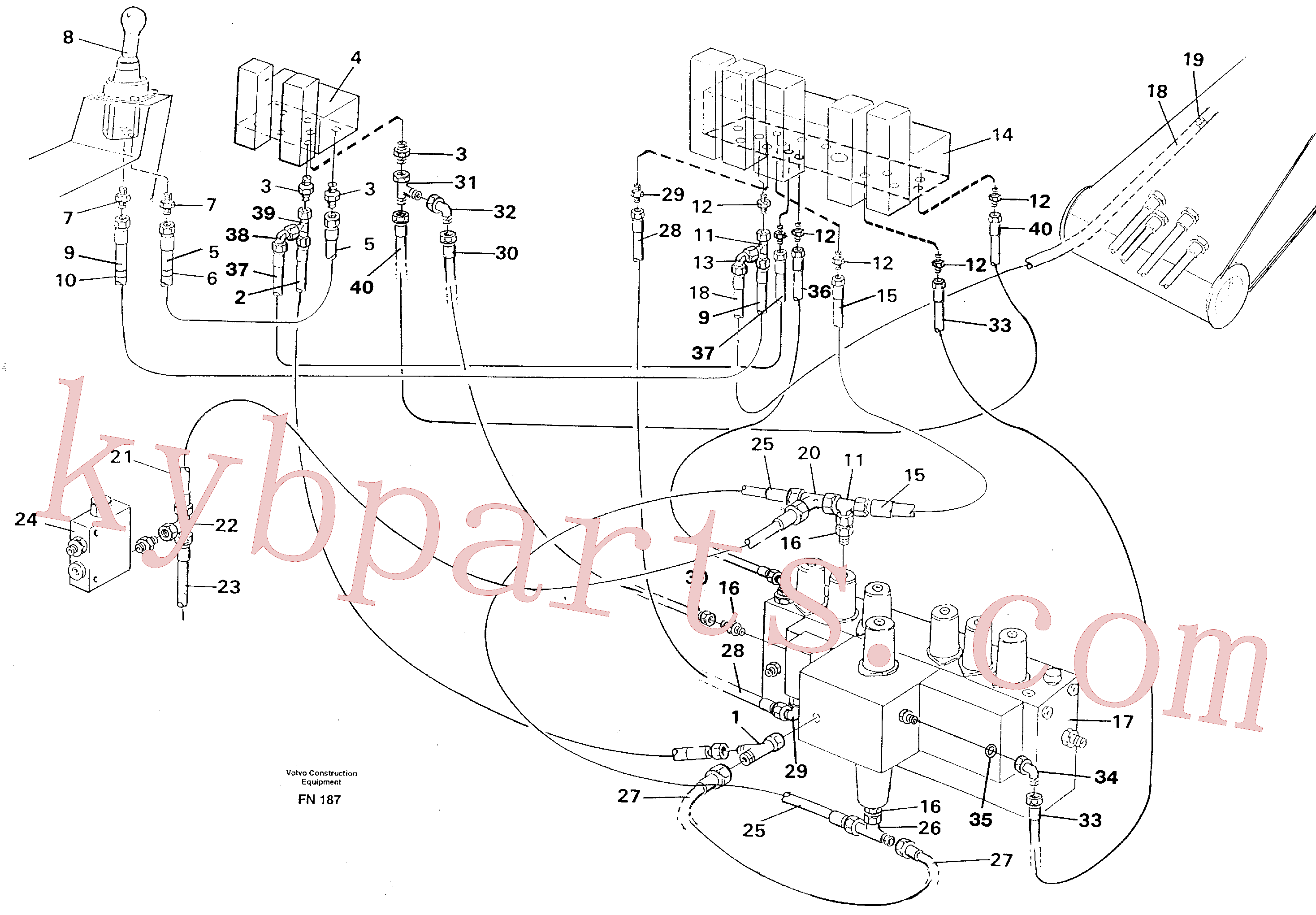 VOE14263244 for Volvo Servo hydraulics, boom(FN187 assembly)