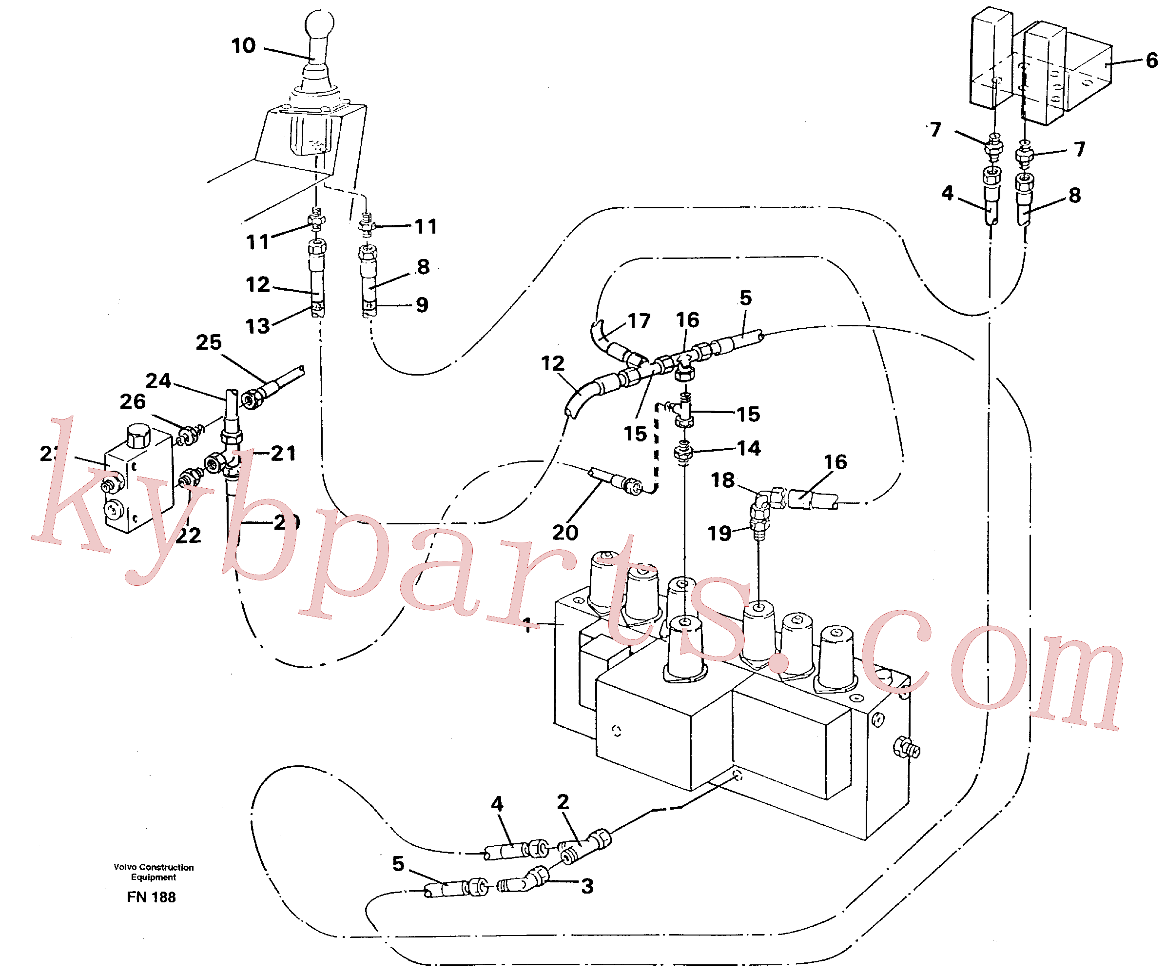 VOE14044825 for Volvo Servo hydraulics, dipper arm(FN188 assembly)