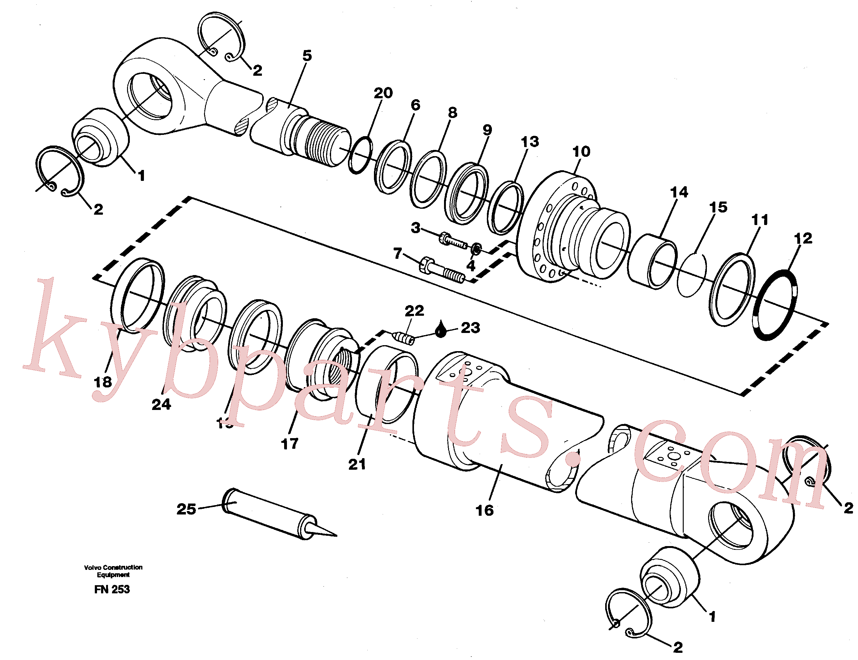 VOE11055612 for Volvo Boom cylinder(FN253 assembly)