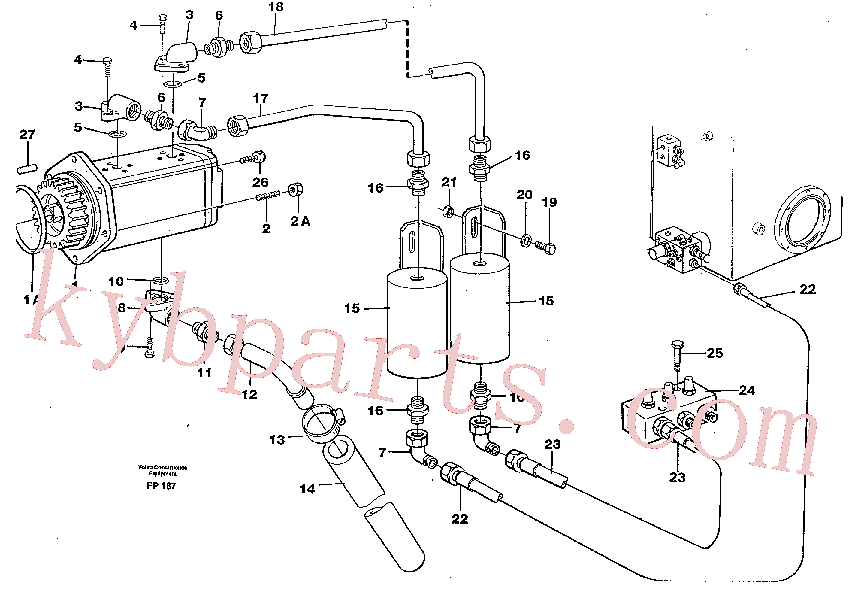VOE959229 for Volvo Servo pump(FP187 assembly)