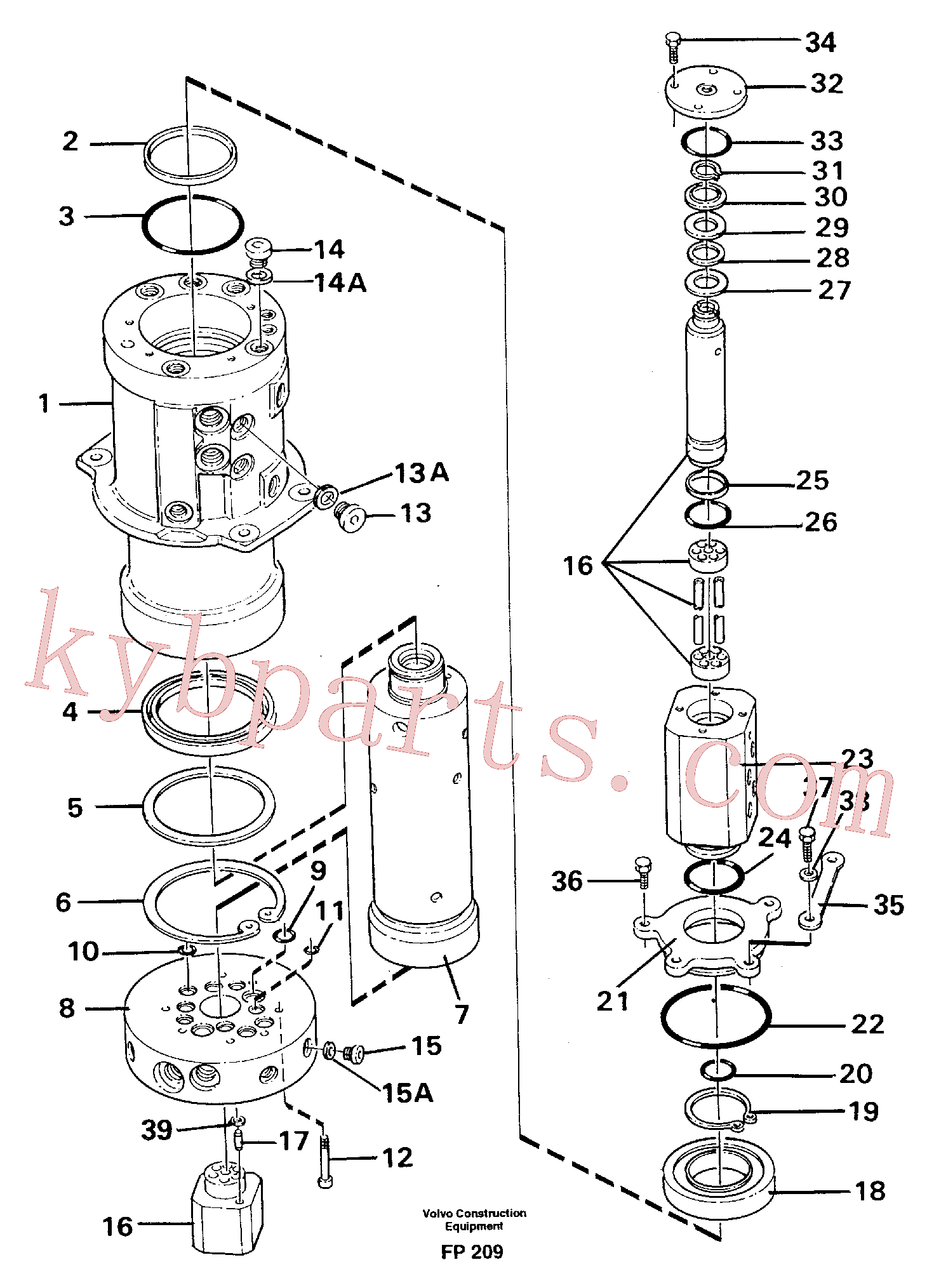 VOE959229 for Volvo Turning joint(FP209 assembly)