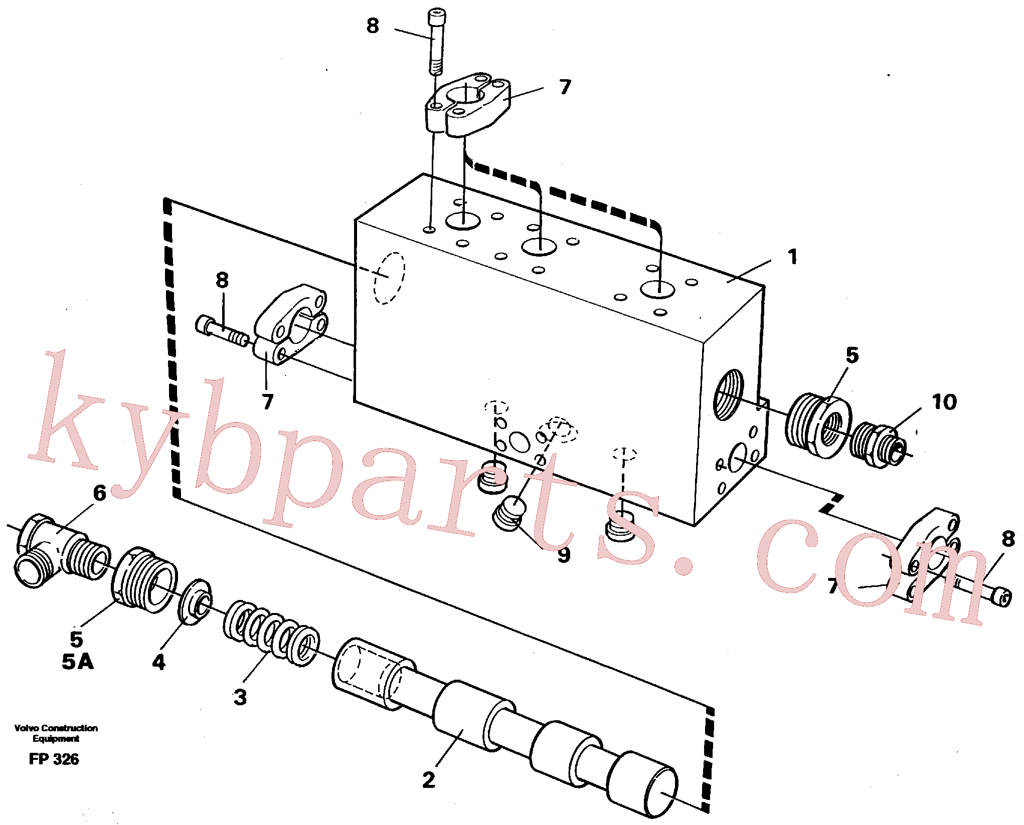 VOE14211860 for Volvo Operating valve(FP326 assembly)