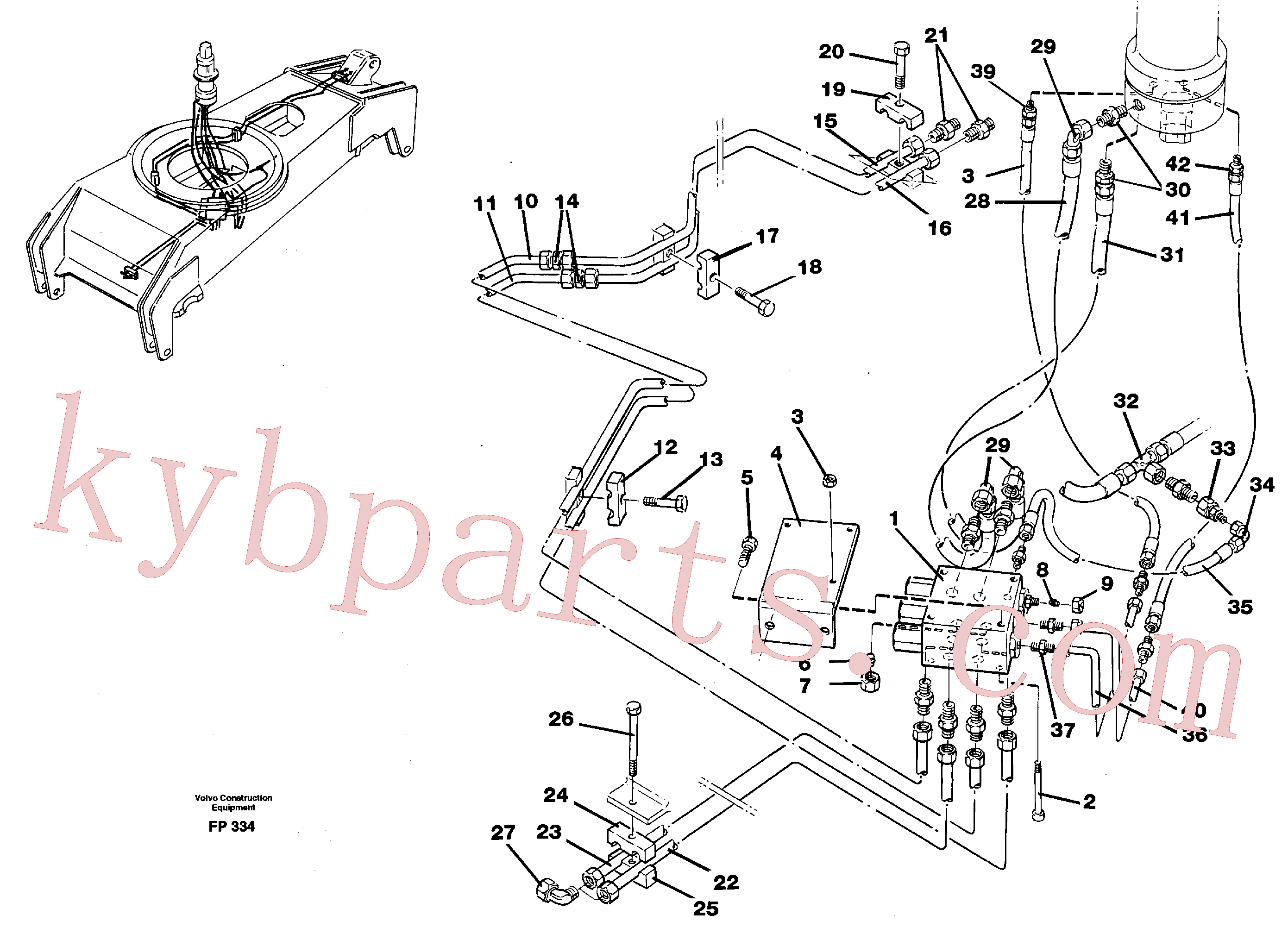 VOE955339 for Volvo Hydraulicsystem, dozerblade,front and rear(FP334 assembly)