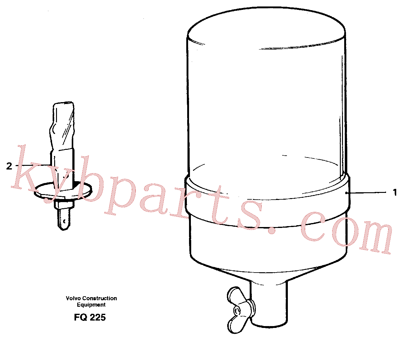 VOE11708266 for Volvo Rotating beacon(FQ225 assembly)