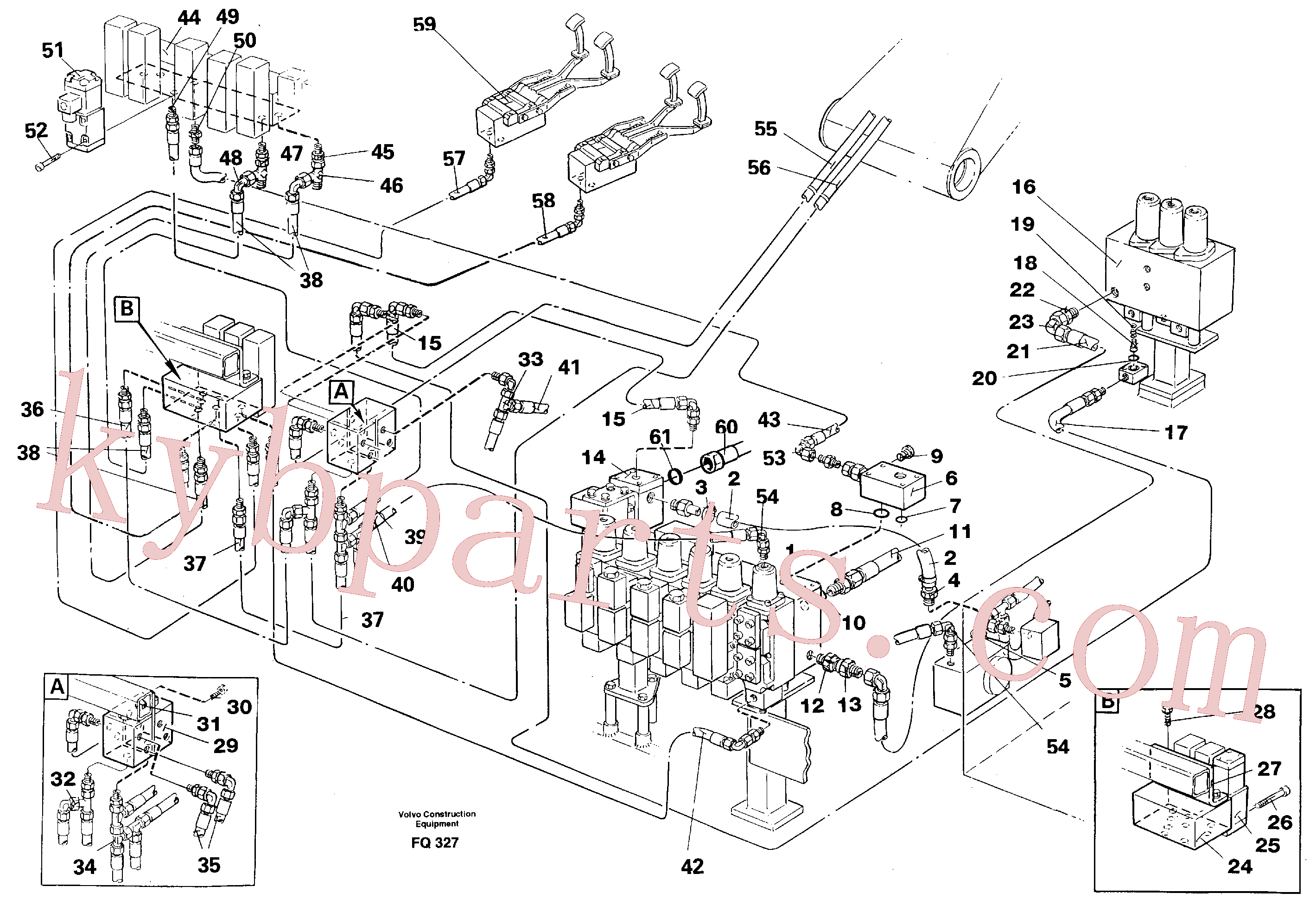 VOE14251114 for Volvo Hydraulic equipment for shears on adjustable boomin base machine(FQ327 assembly)