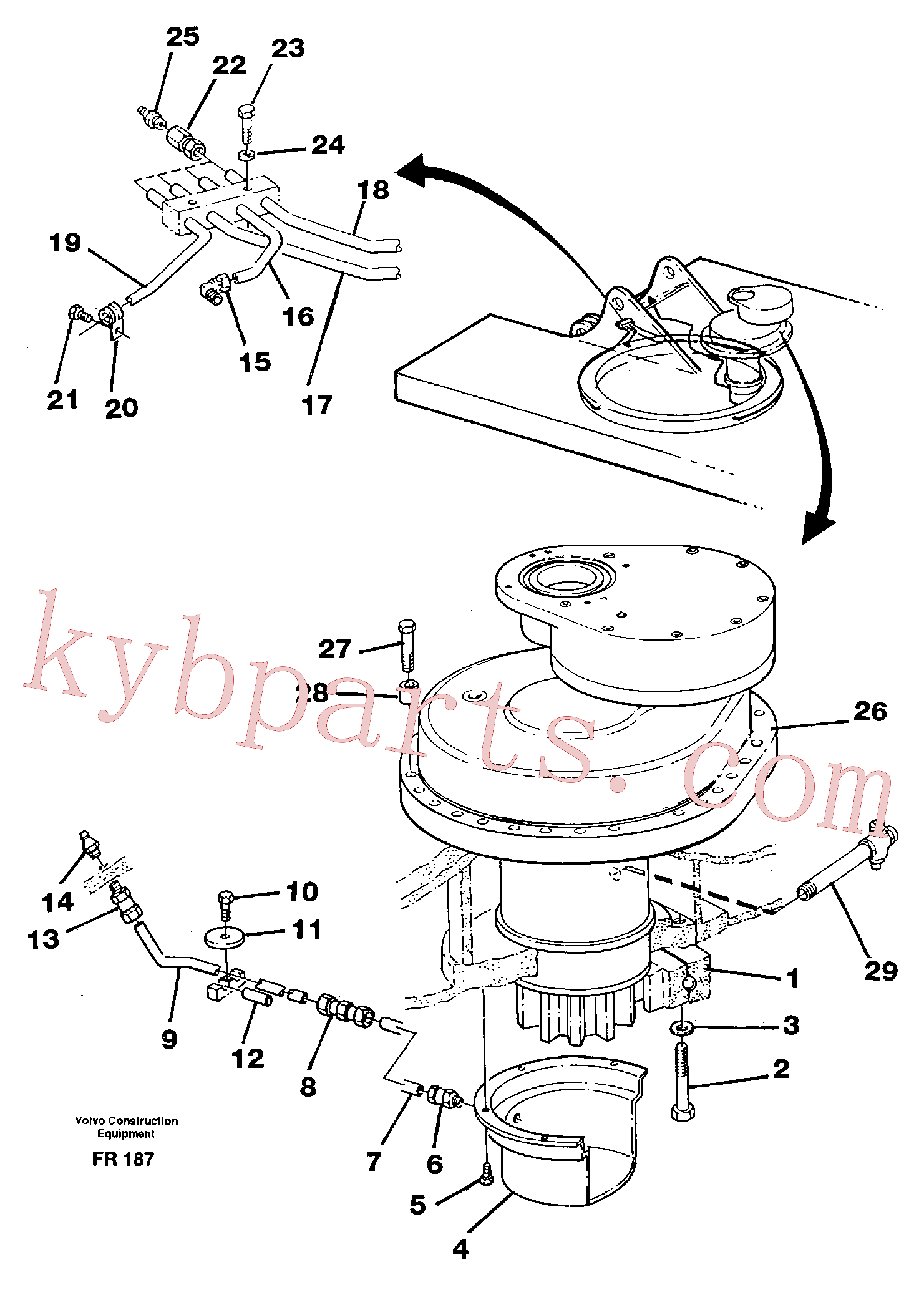 VOE14023285 for Volvo Superstructure with slew transmission(FR187 assembly)