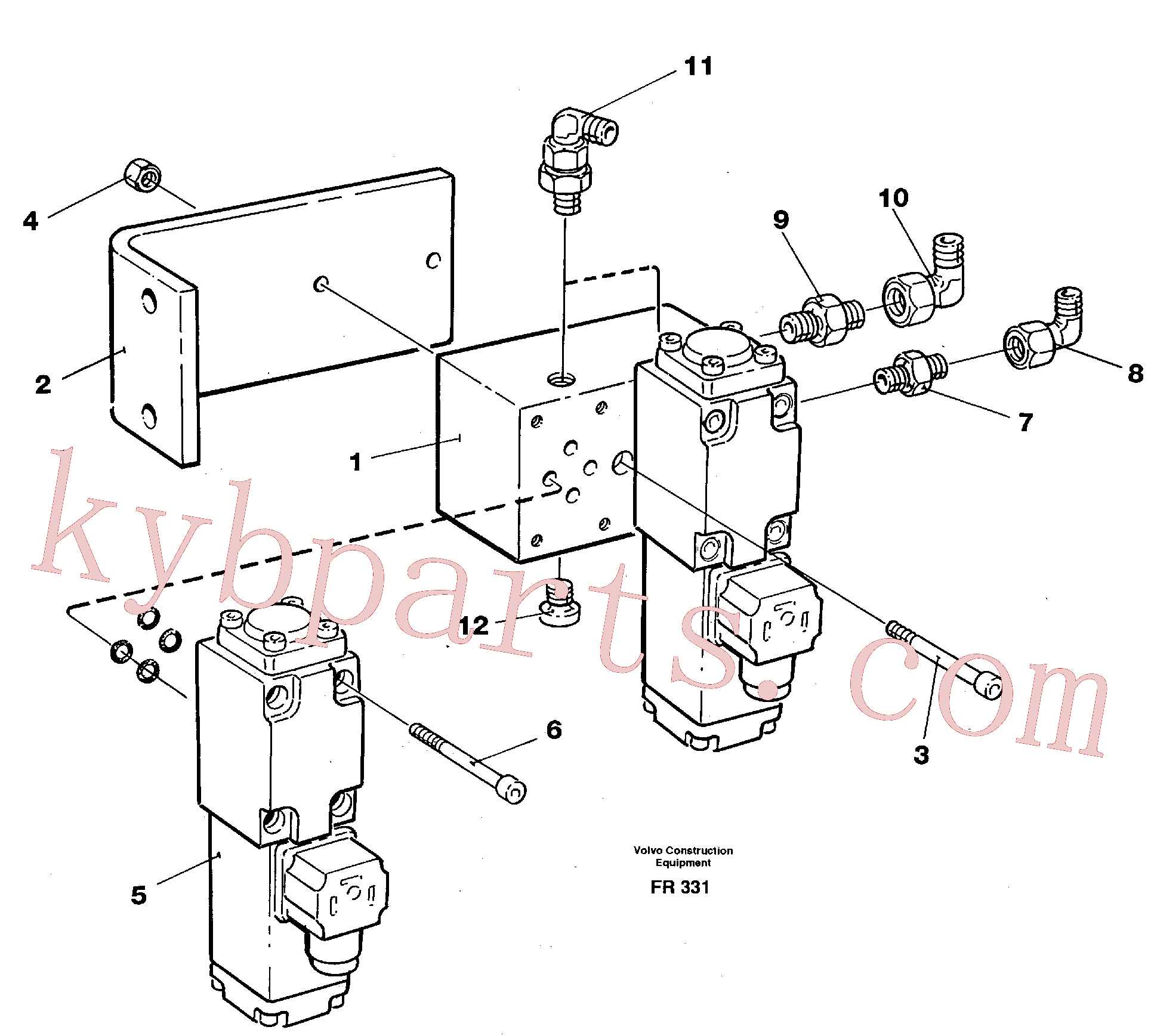 VOE14211900 for Volvo Electric valve block(FR331 assembly)
