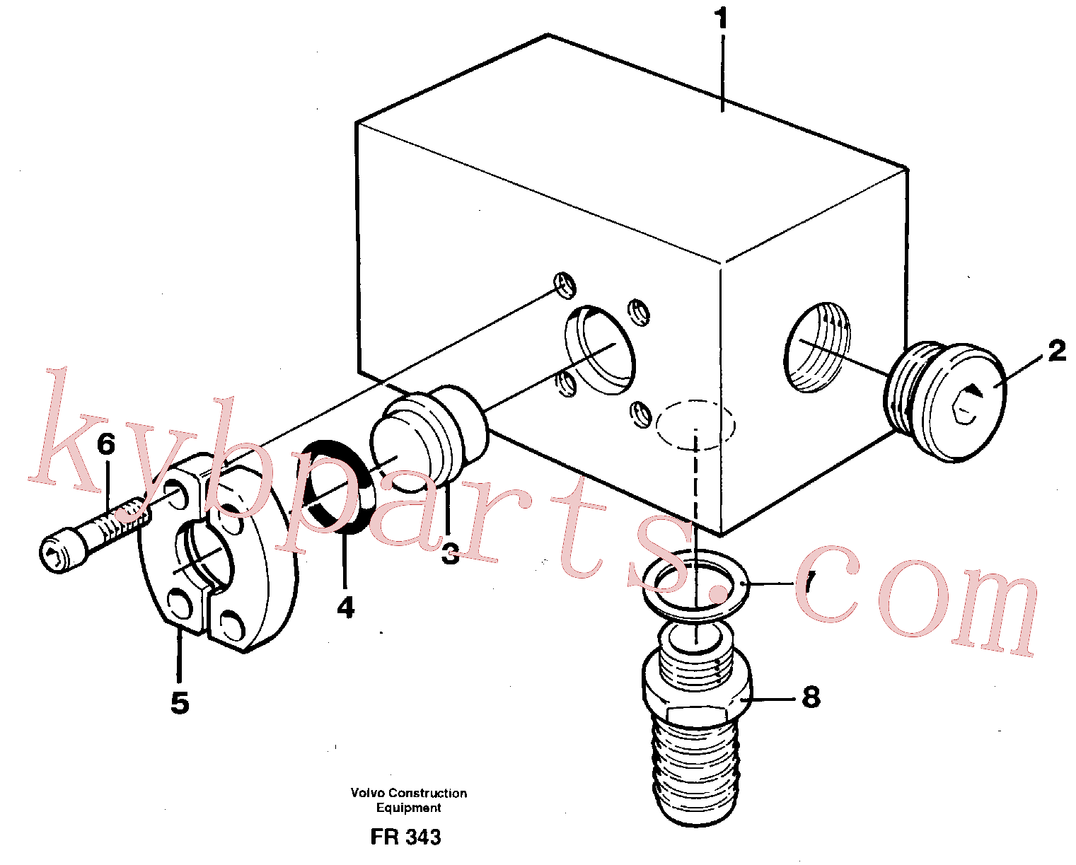 VOE14251114 for Volvo Adapter(FR343 assembly)