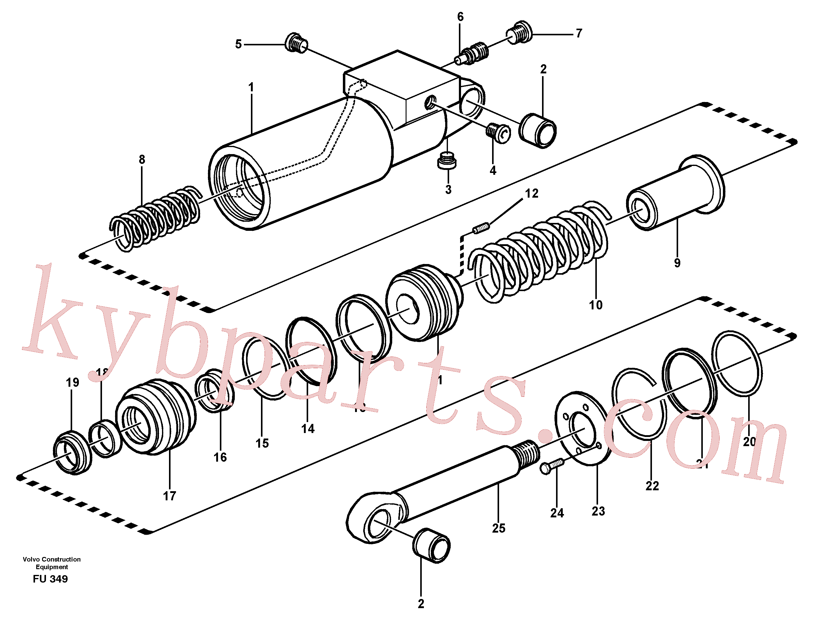 VOE949240 for Volvo Hydraulic cylinder(FU349 assembly)