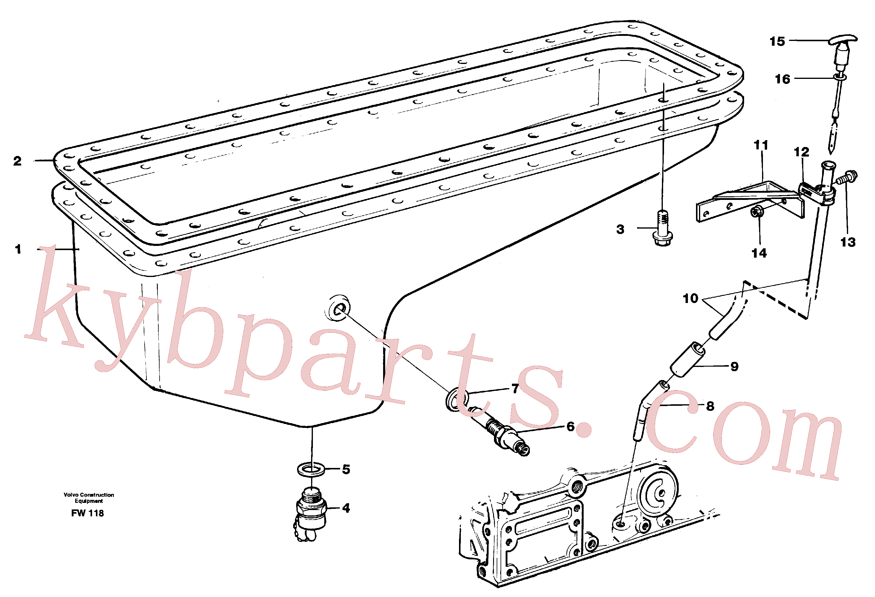 VOE944496 for Volvo Oil sump(FW118 assembly)