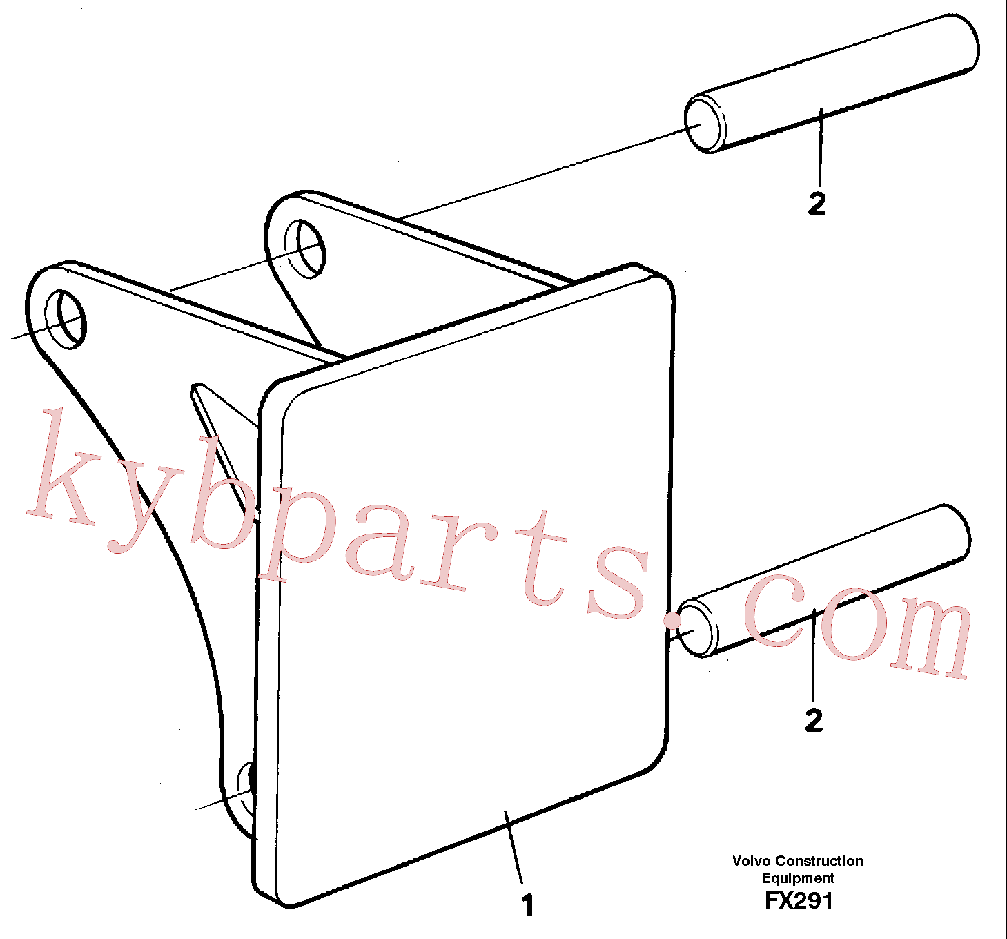 VOE14260983 for Volvo Hammer plate(FX291 assembly)