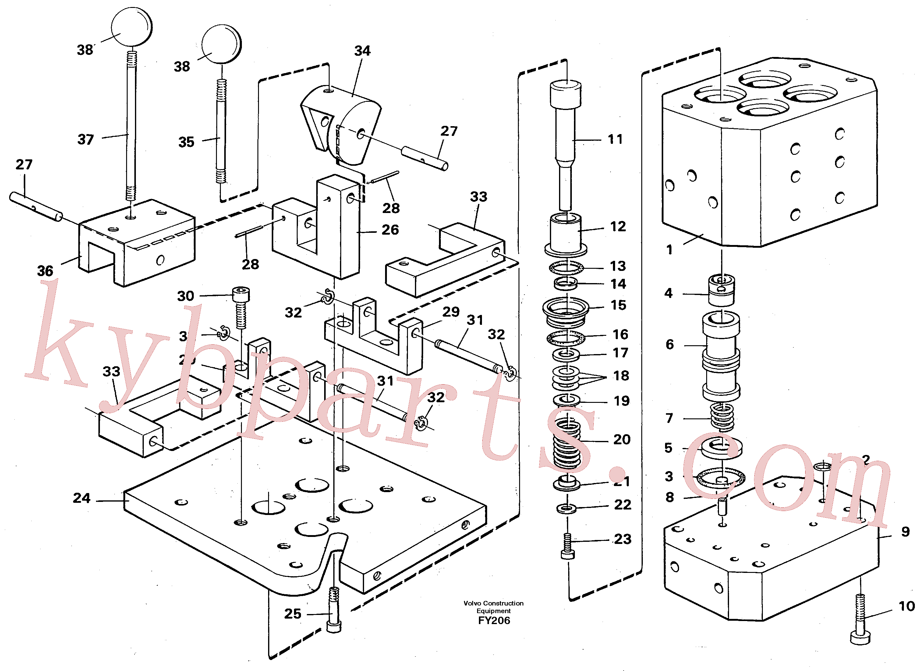 VOE14244421 for Volvo Control pressure valve(FY206 assembly)