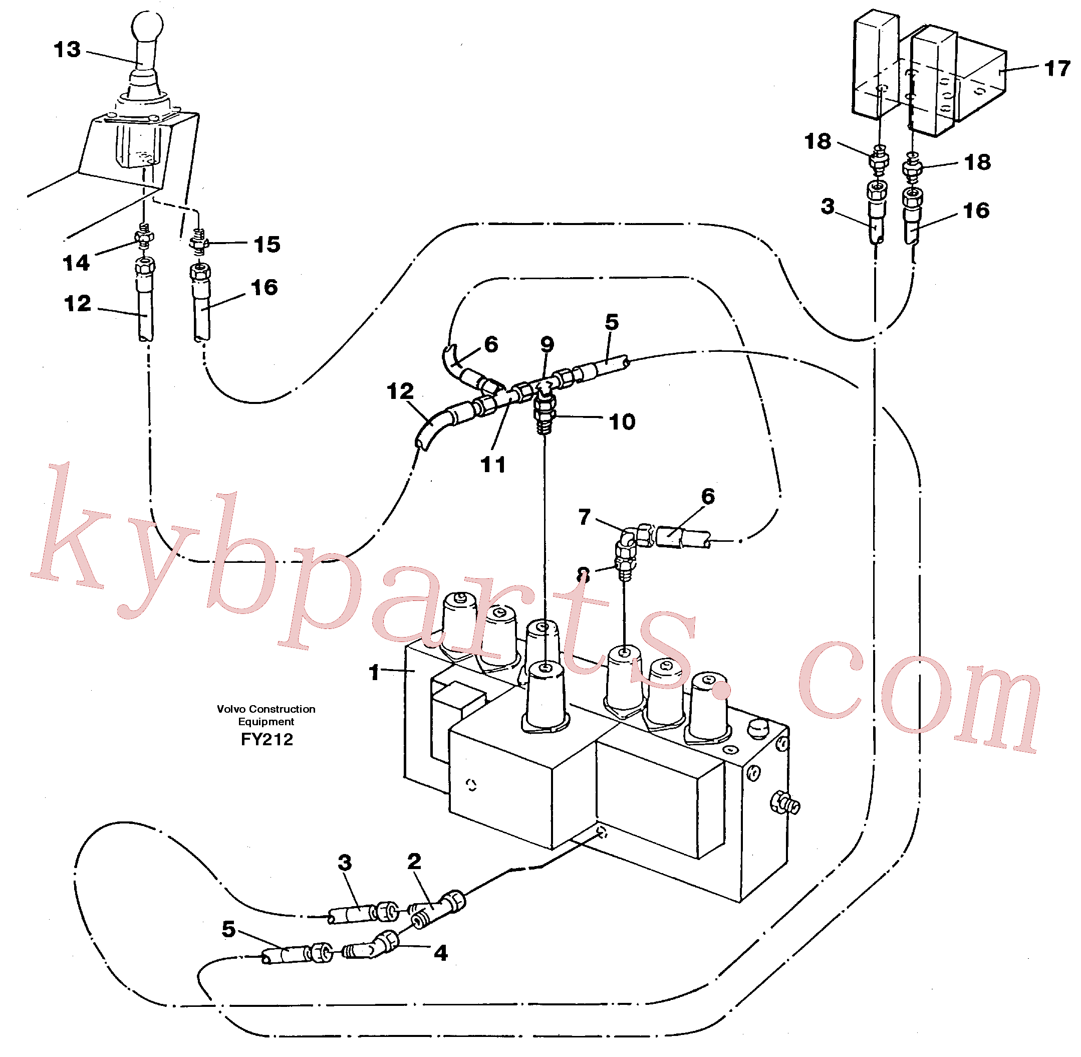 VOE14263244 for Volvo Servo hydraulics, dipper arm(FY212 assembly)