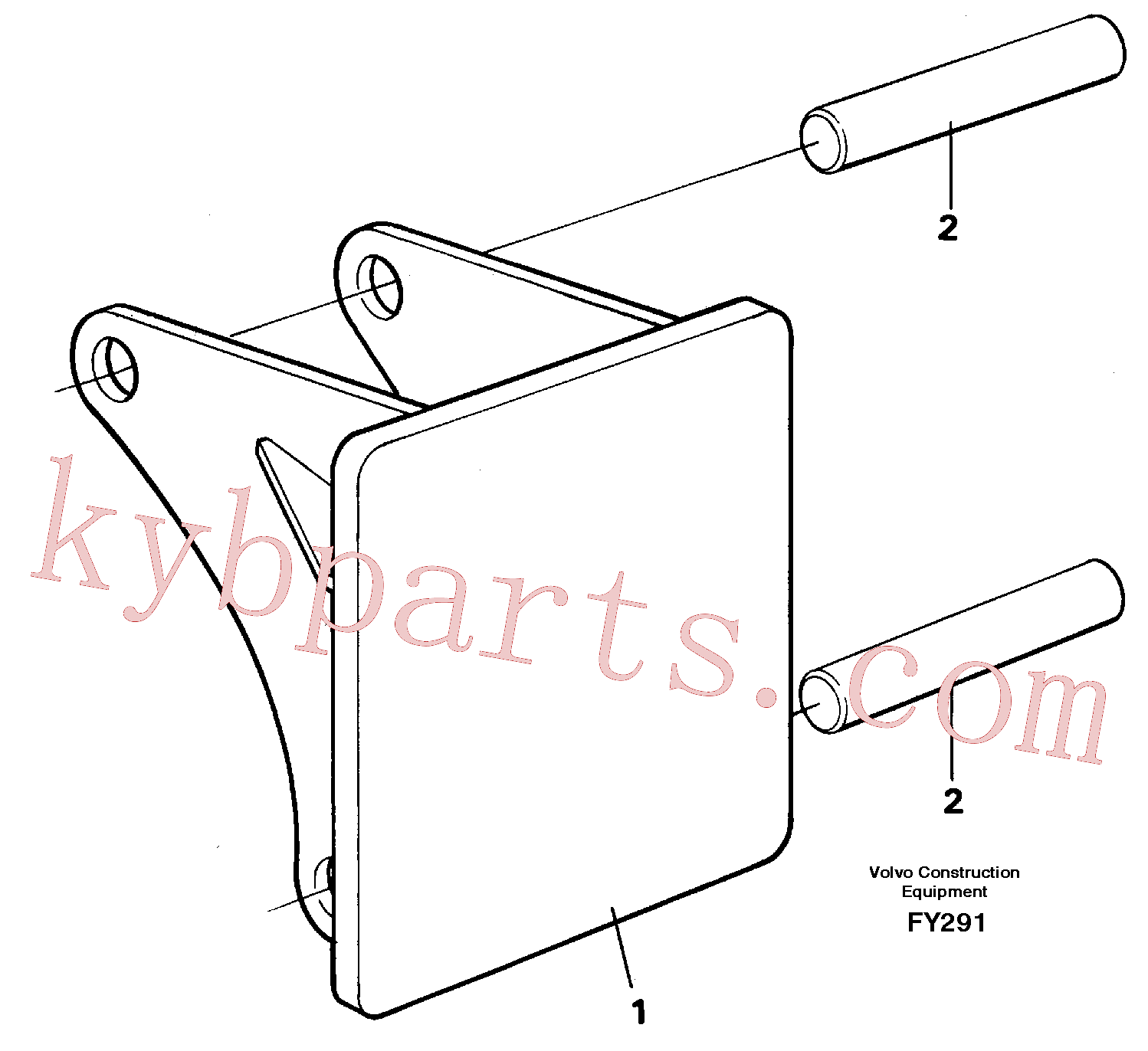 VOE14260983 for Volvo Hammer plate(FY291 assembly)