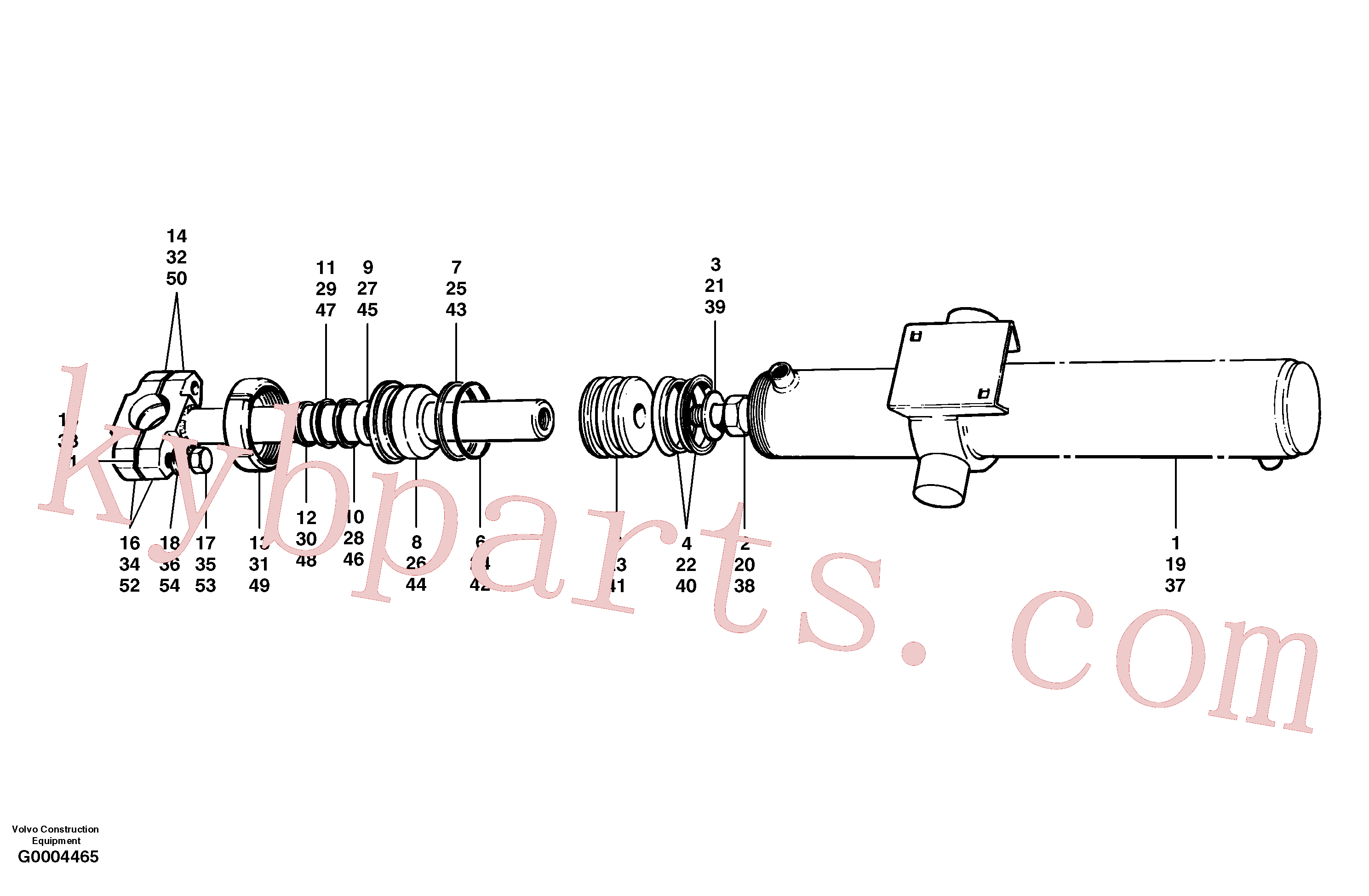 CH97828 for Volvo Blade lift cylinders(G0004465 assembly)