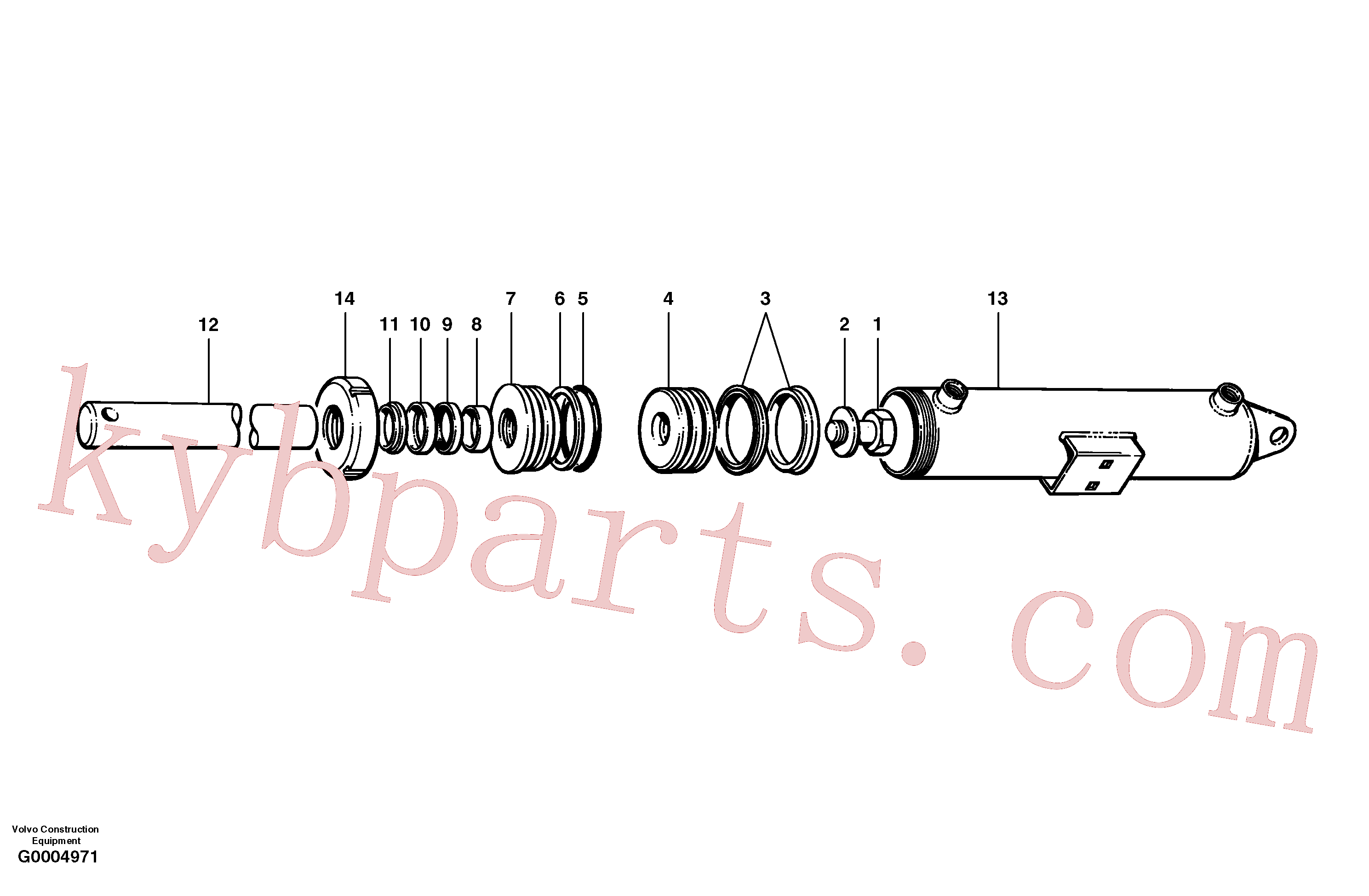 CH97828 for Volvo Plow and dozer cylinder(G0004971 assembly)