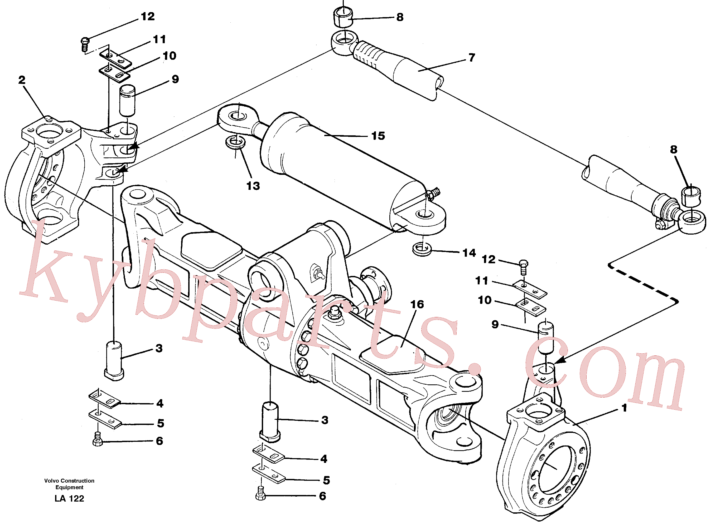 VOE14212414 for Volvo Knuckle ret and parallel stay(LA122 assembly)