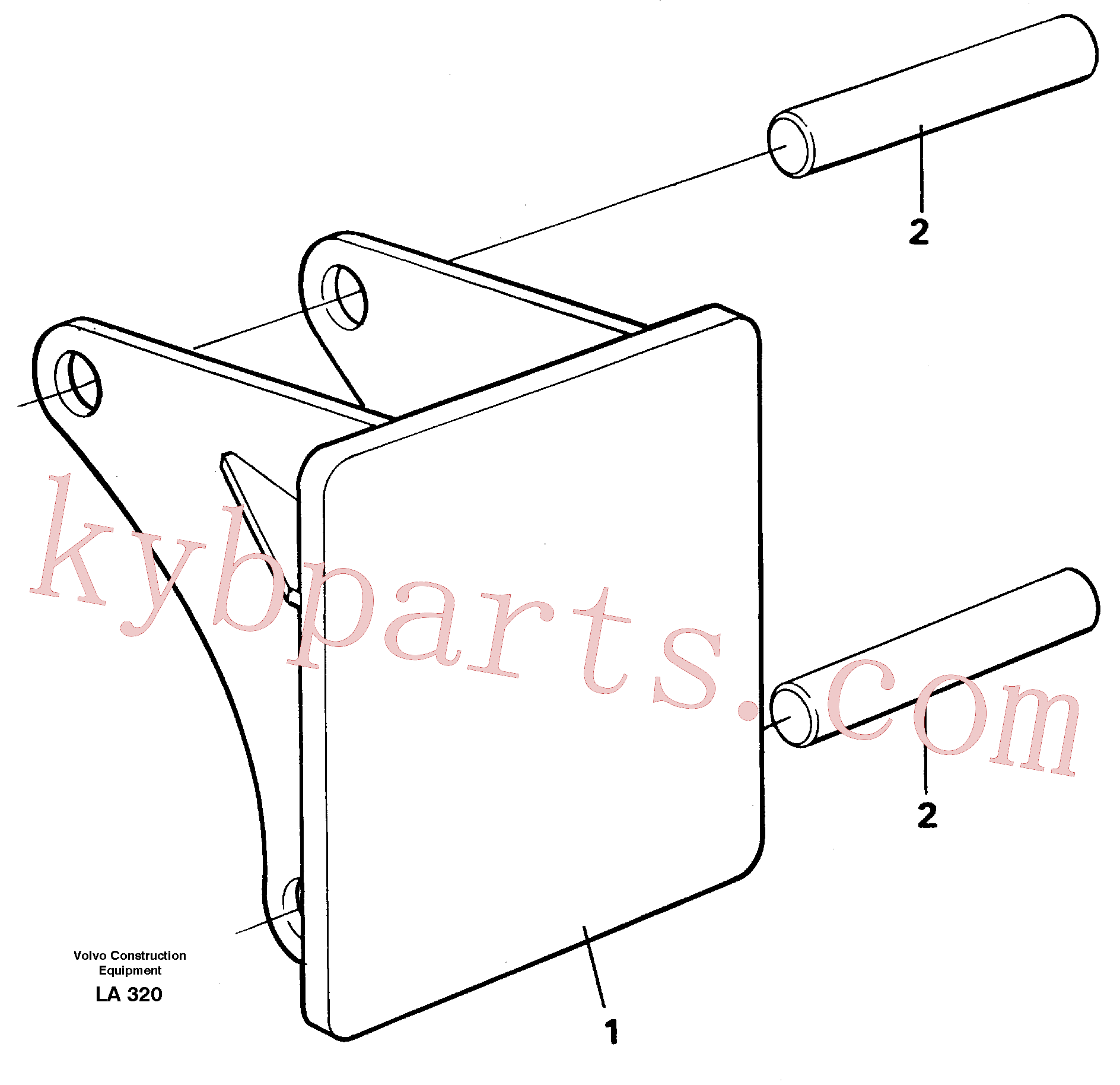 VOE14260983 for Volvo Hammer plate(LA320 assembly)