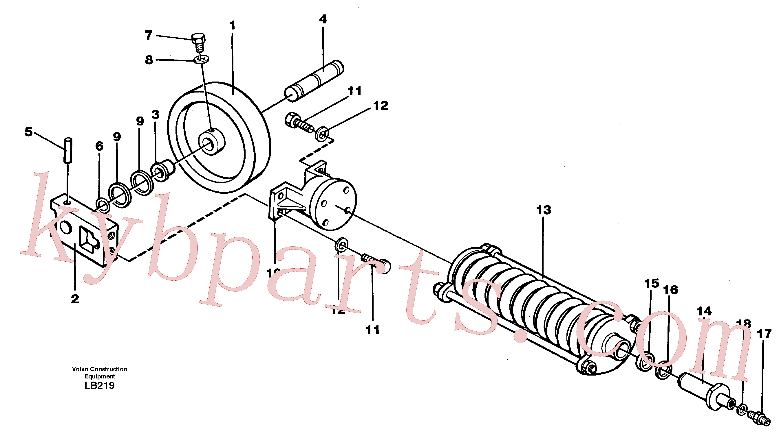 VOE944496 for Volvo Front wheel, spring package and tension cylinder(LB219 assembly)