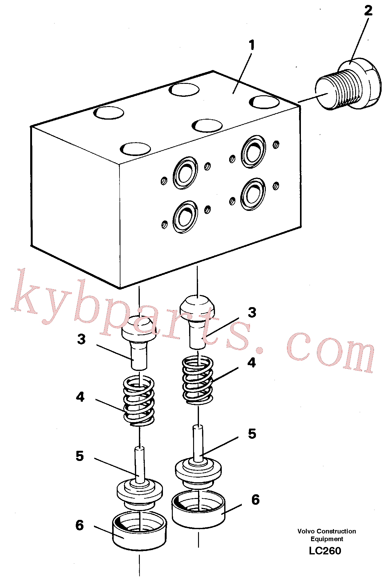 VOE14265646 for Volvo Anticavitation valve(LC260 assembly)