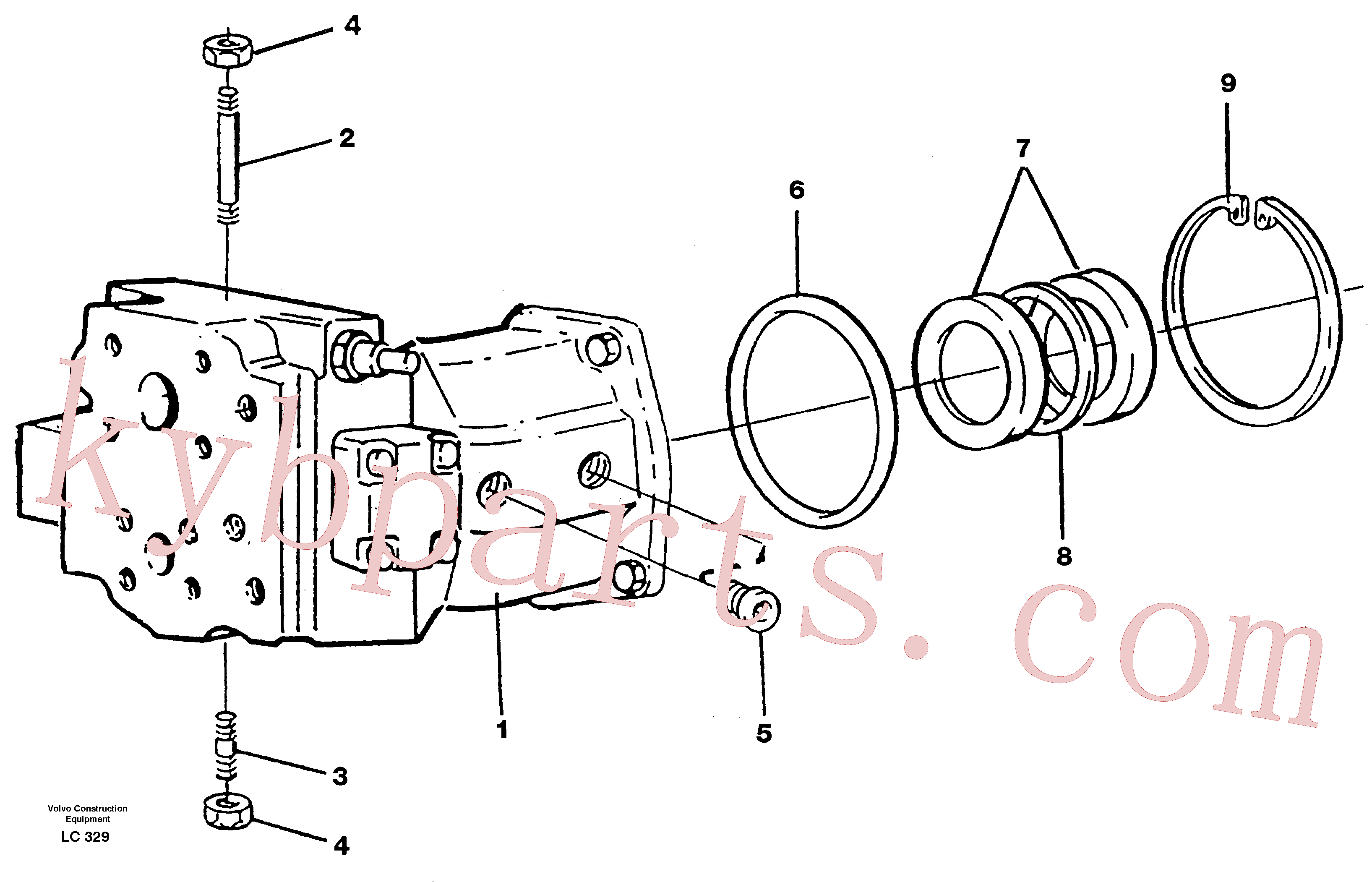 PJ7416138 for Volvo Hydraulic pump(LC329 assembly)