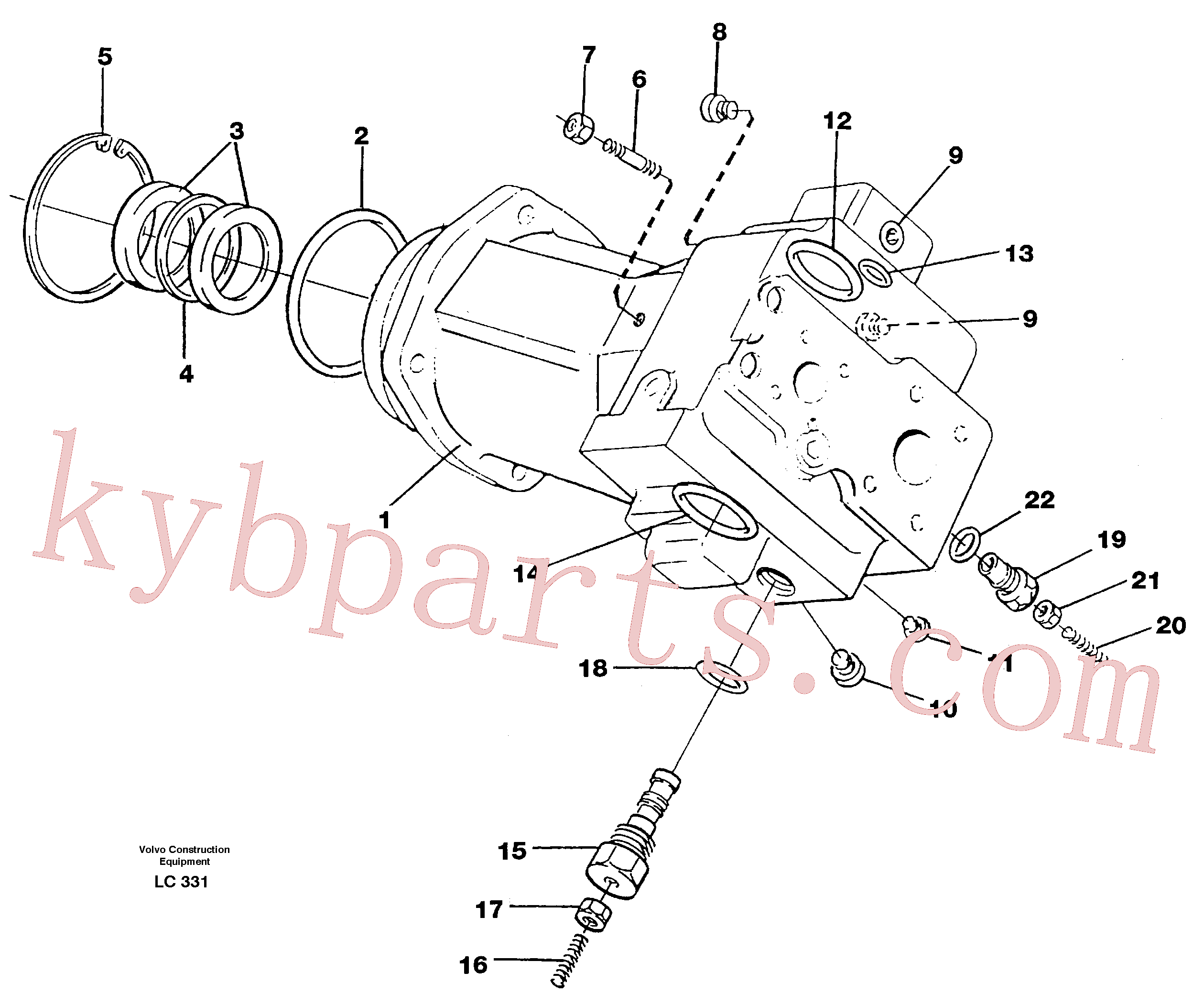 VOE11993505 for Volvo Hydraulic pump(LC331 assembly)