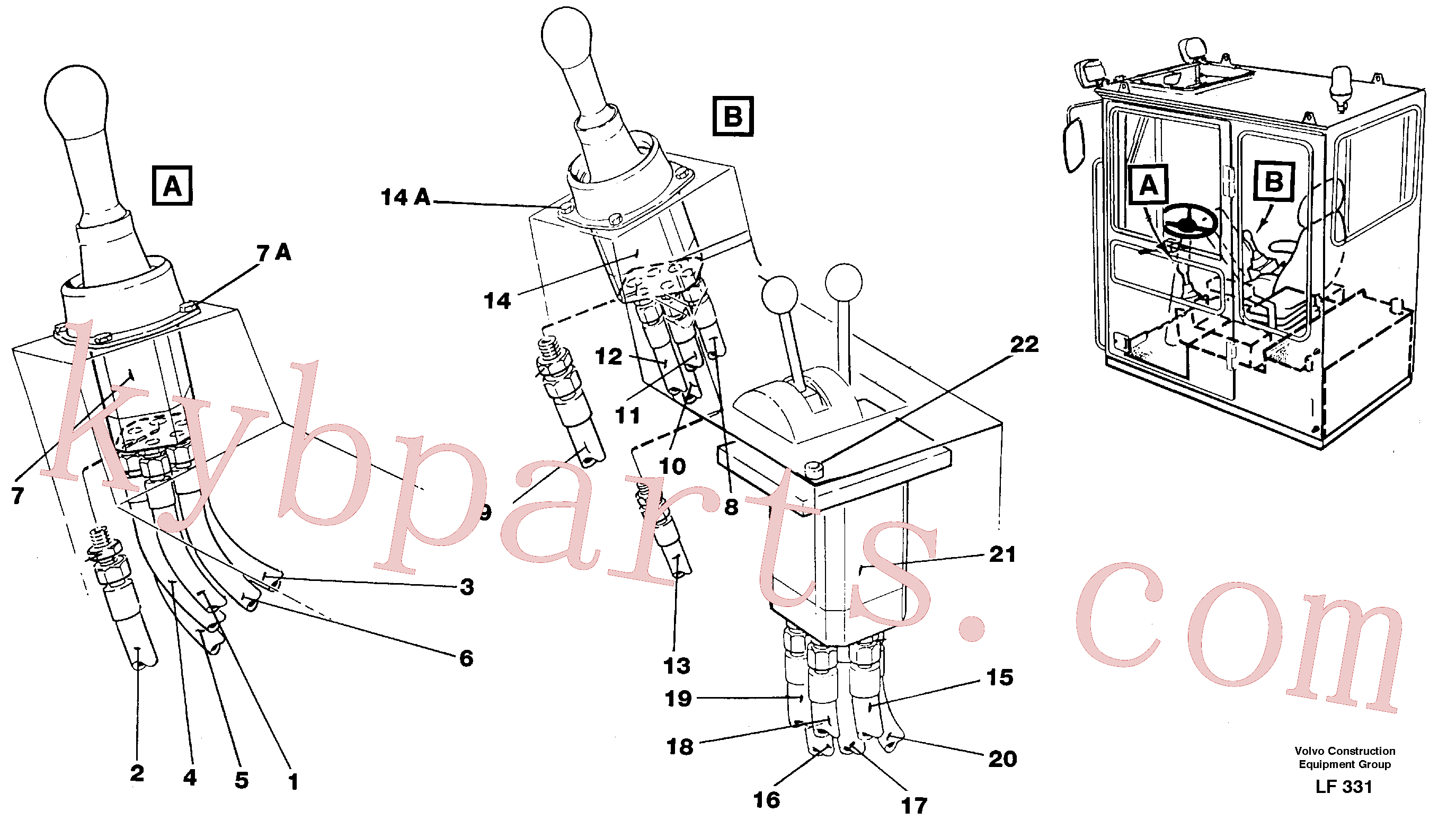 VOE14213134 for Volvo Joy Stick Left and Right(LF331 assembly)