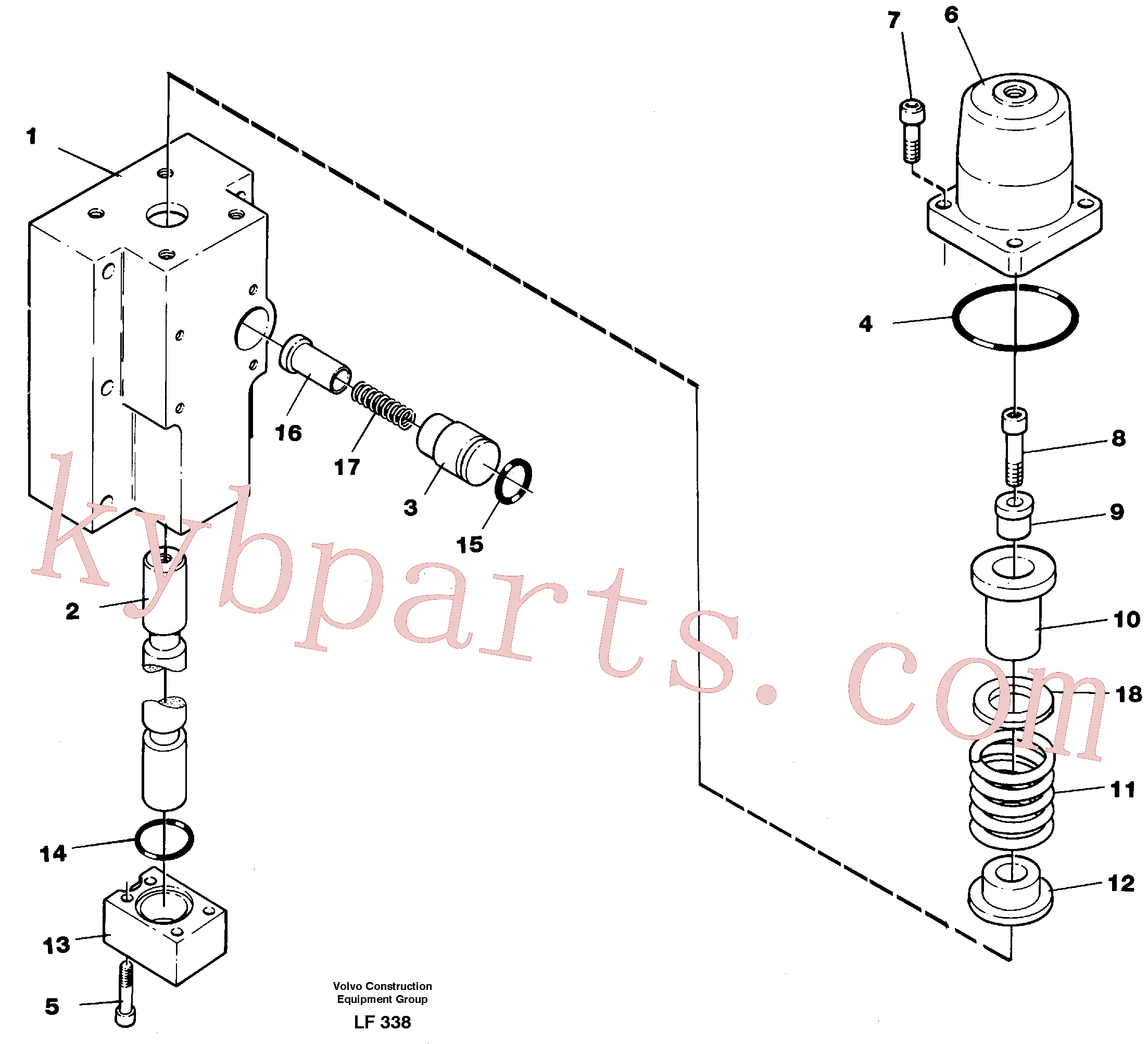 VOE14266829 for Volvo Four-way valve, boom secondary(LF338 assembly)