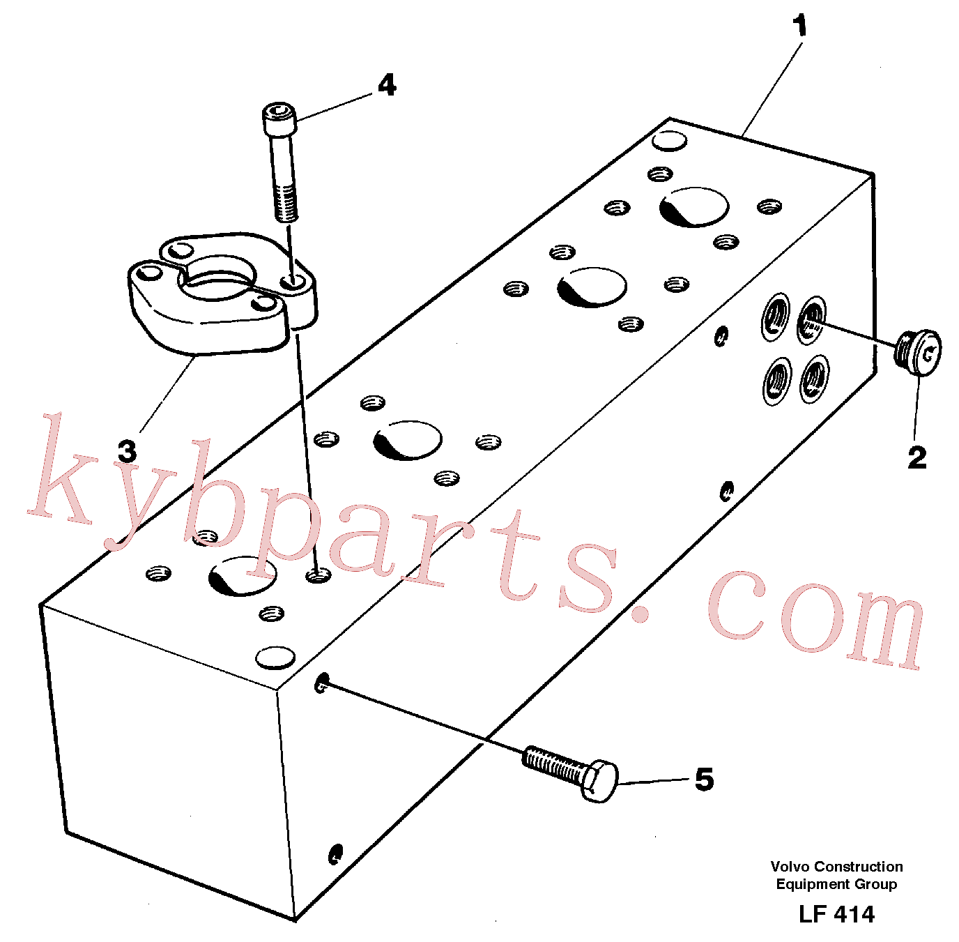 VOE14254028 for Volvo Connection board(LF414 assembly)