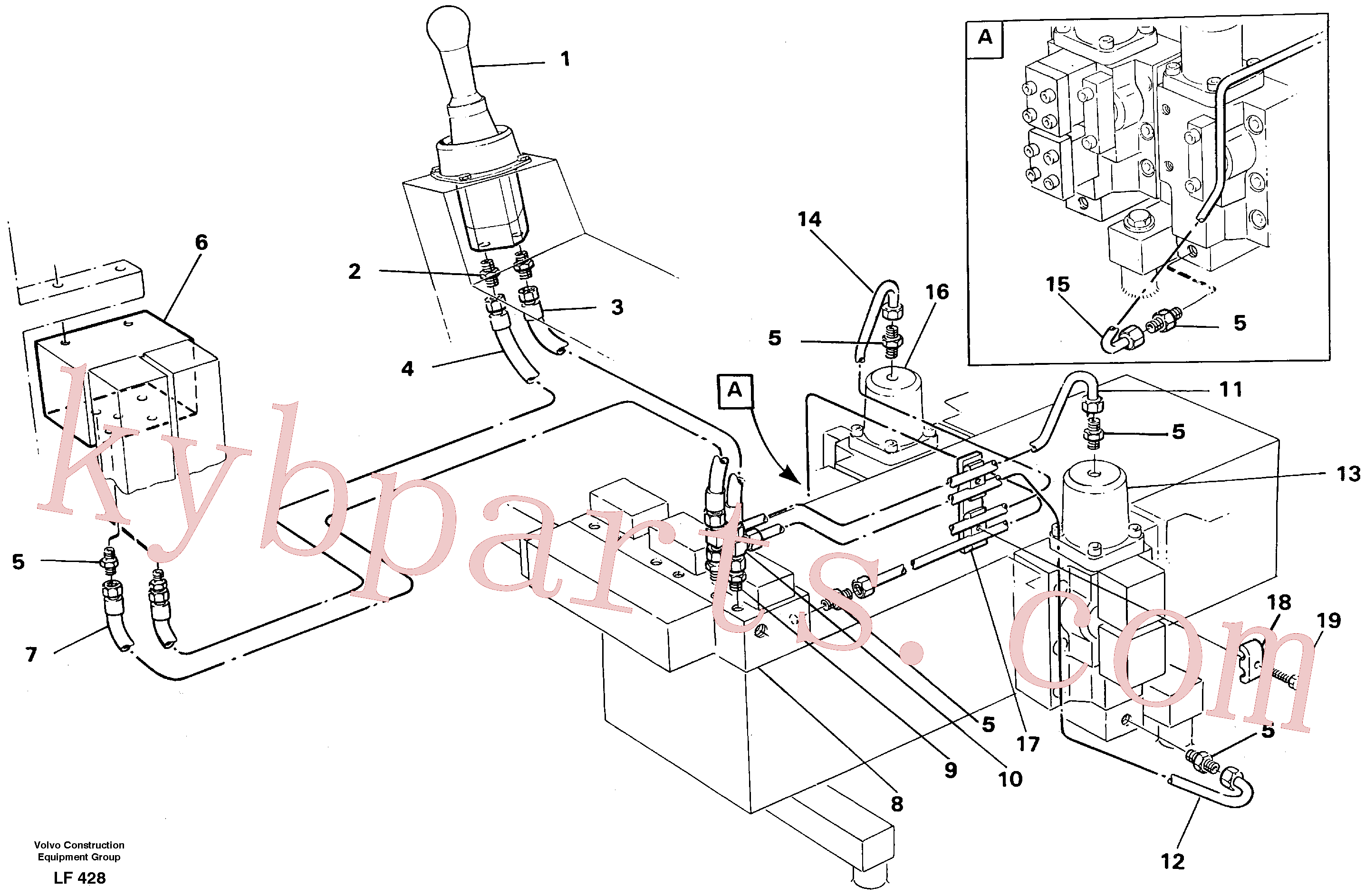 VOE14041091 for Volvo Servo hydraulics, dipper arm(LF428 assembly)