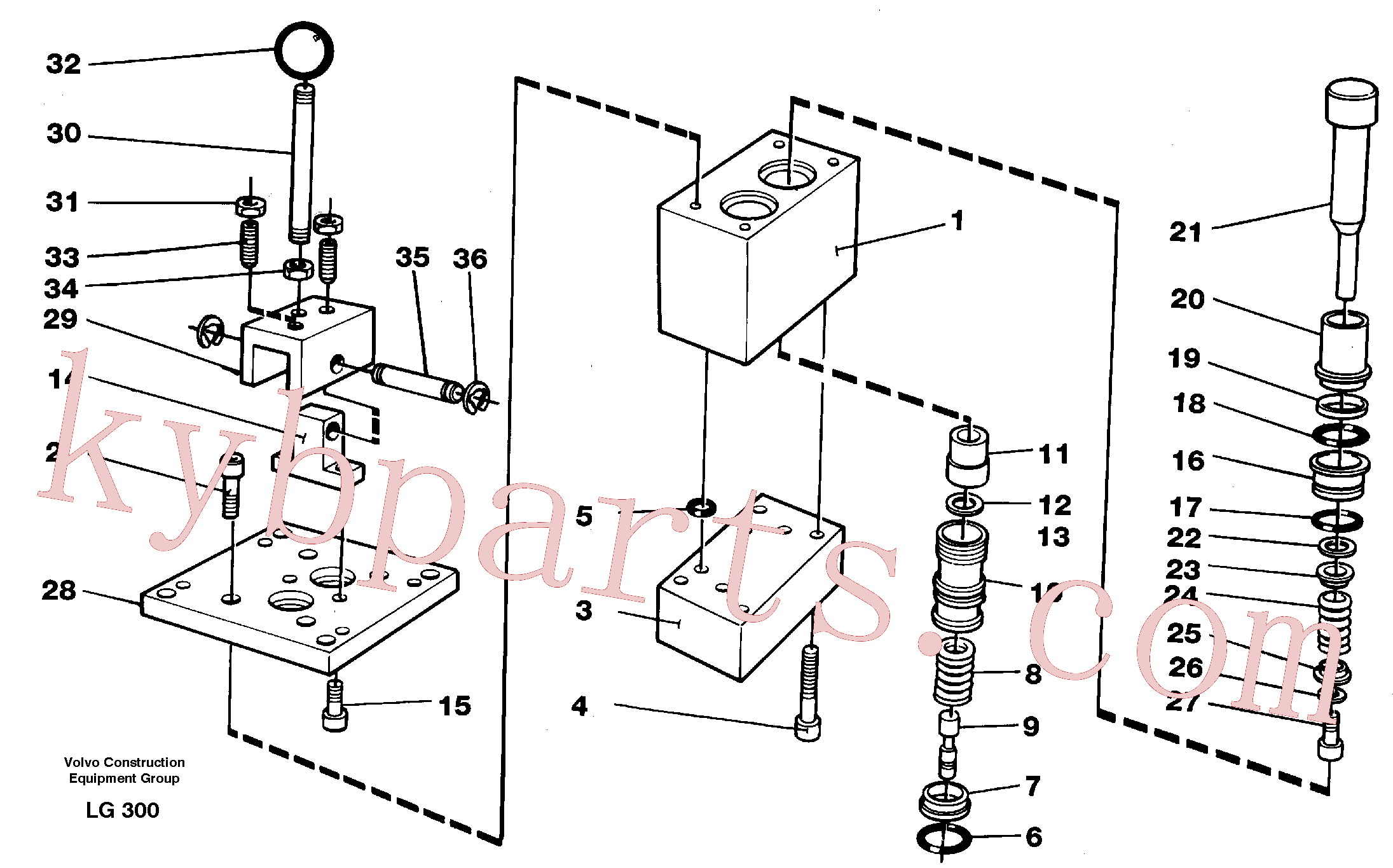 VOE14244421 for Volvo Control pressure valve(LG300 assembly)