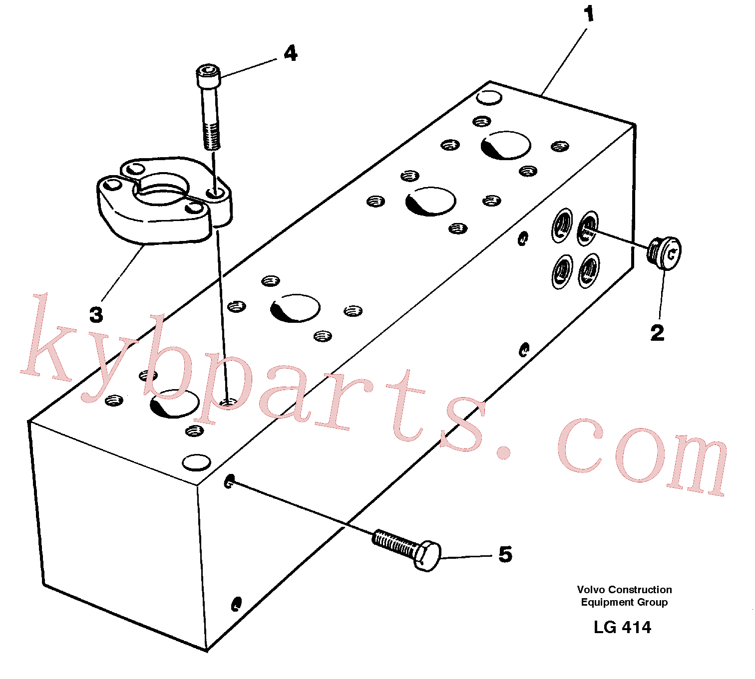 VOE14254028 for Volvo Connection board(LG414 assembly)