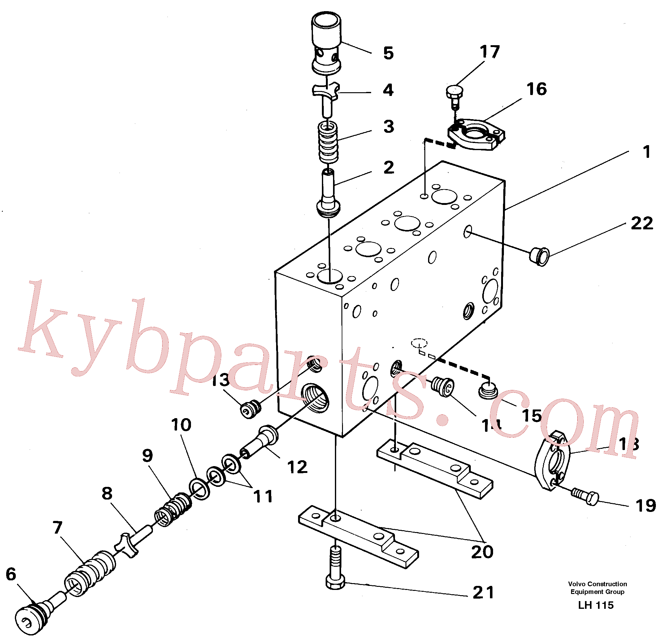 VOE14265646 for Volvo Connection board(LH115 assembly)