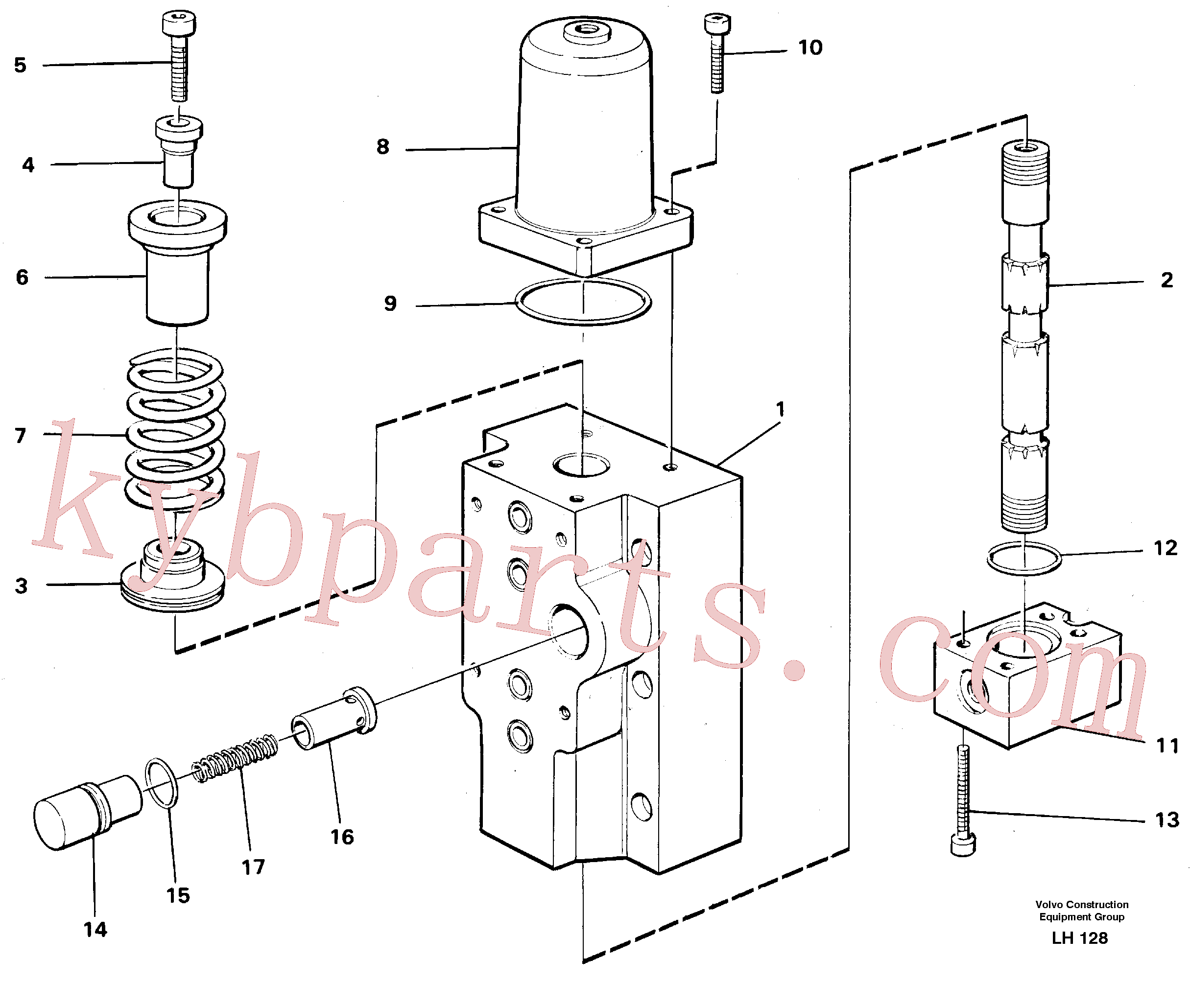 VOE14252112 for Volvo Four-way valves Primary(LH128 assembly)