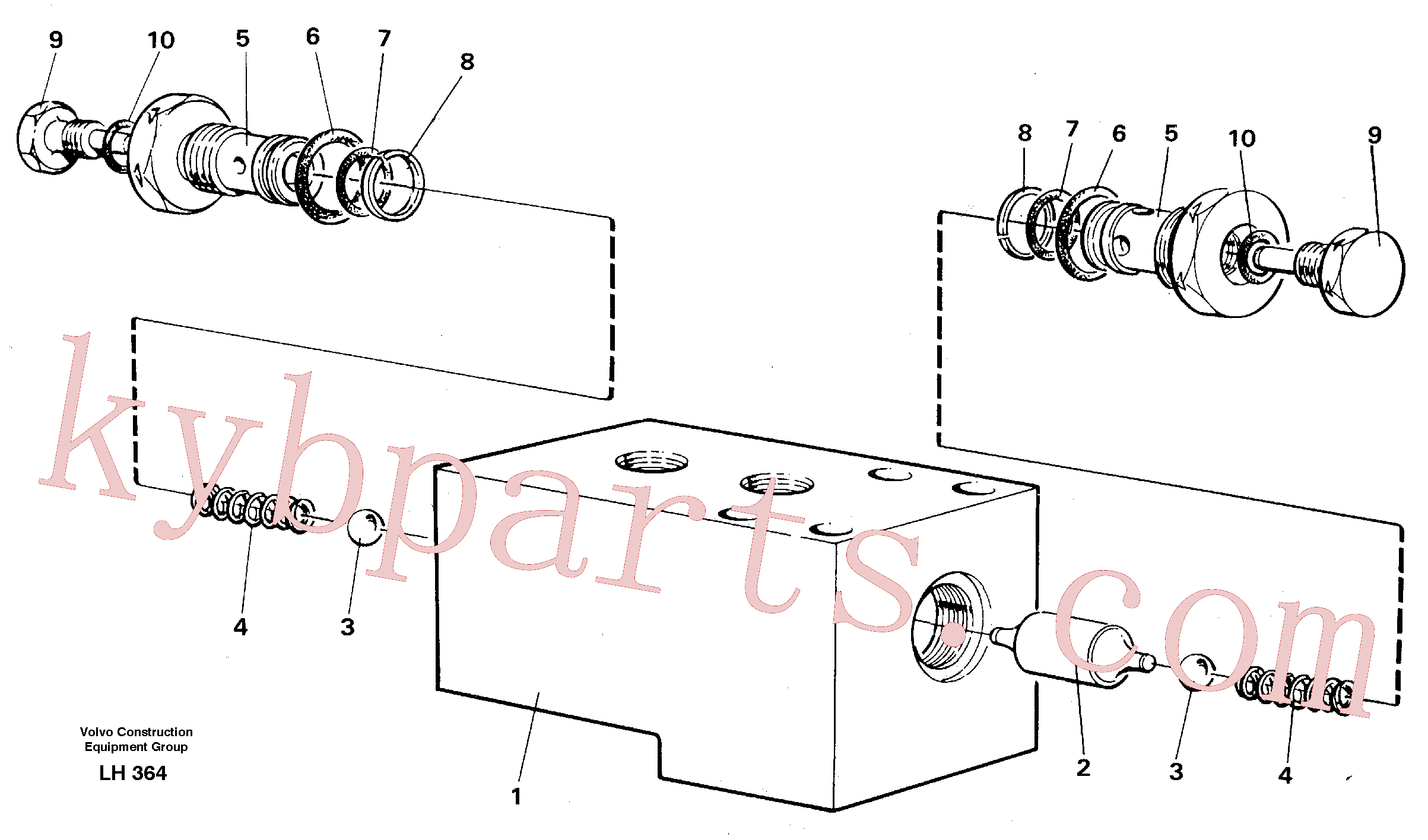 VOE14047848 for Volvo Hydraulic lock, outriggers(LH364 assembly)