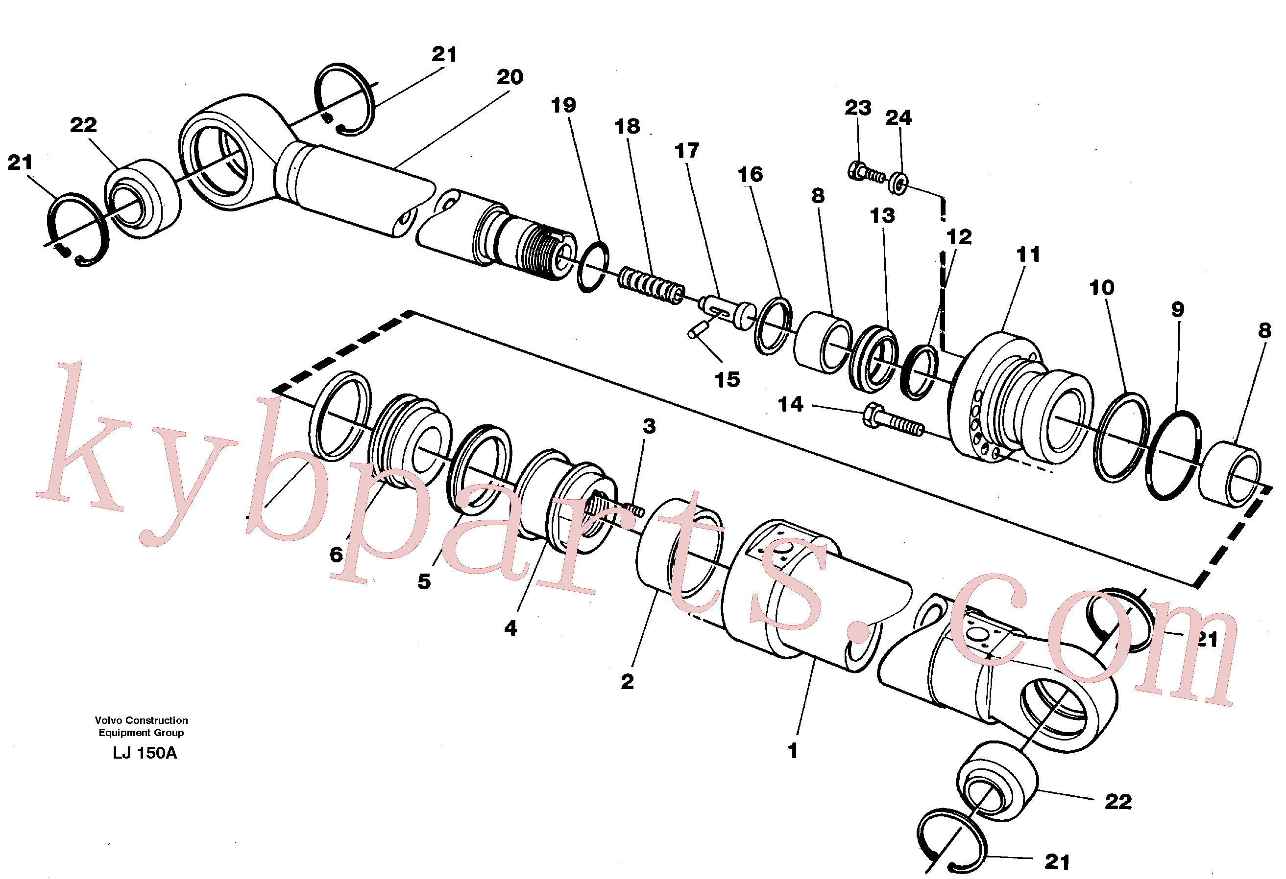 VOE11055612 for Volvo Bucket cylinder(LJ150A assembly)