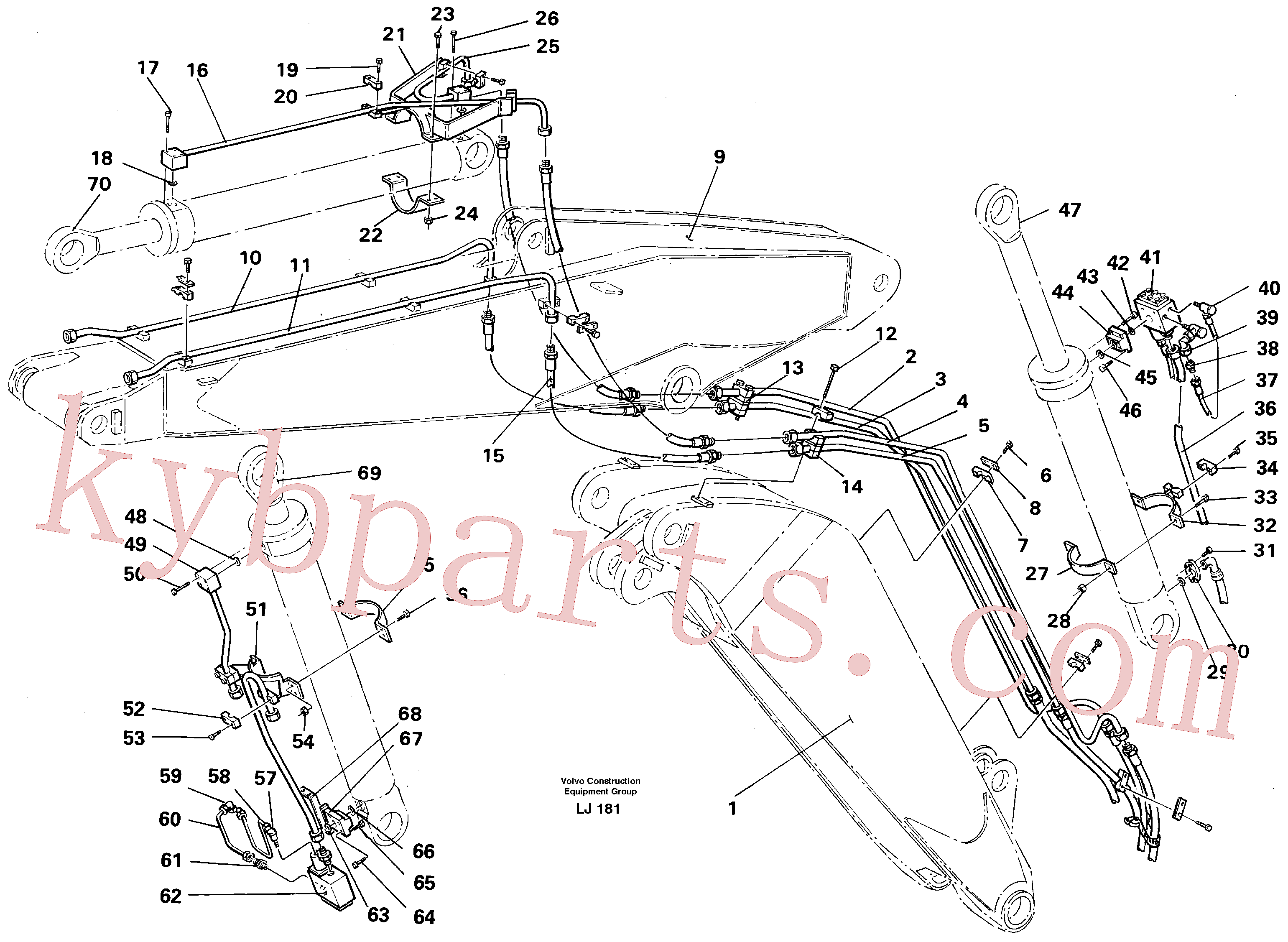 VOE14254516 for Volvo Hydraulic equipment, adjustable boom(LJ181 assembly)