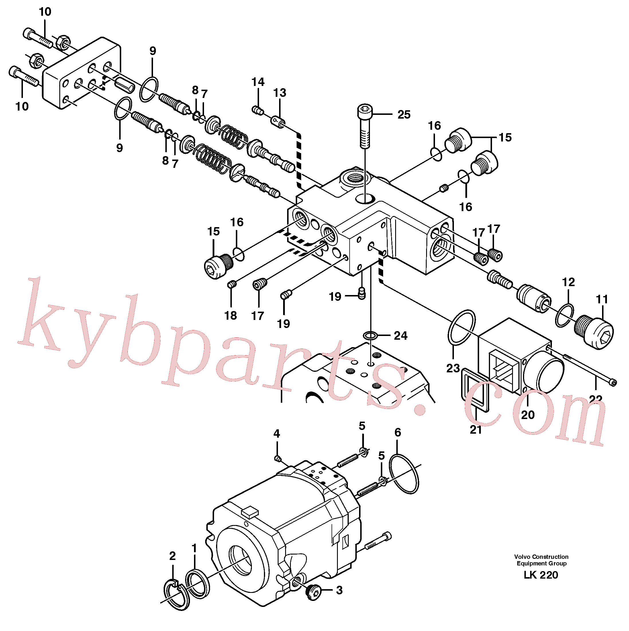 VOE11705612 for Volvo Hydraulic pump(LK220 assembly)