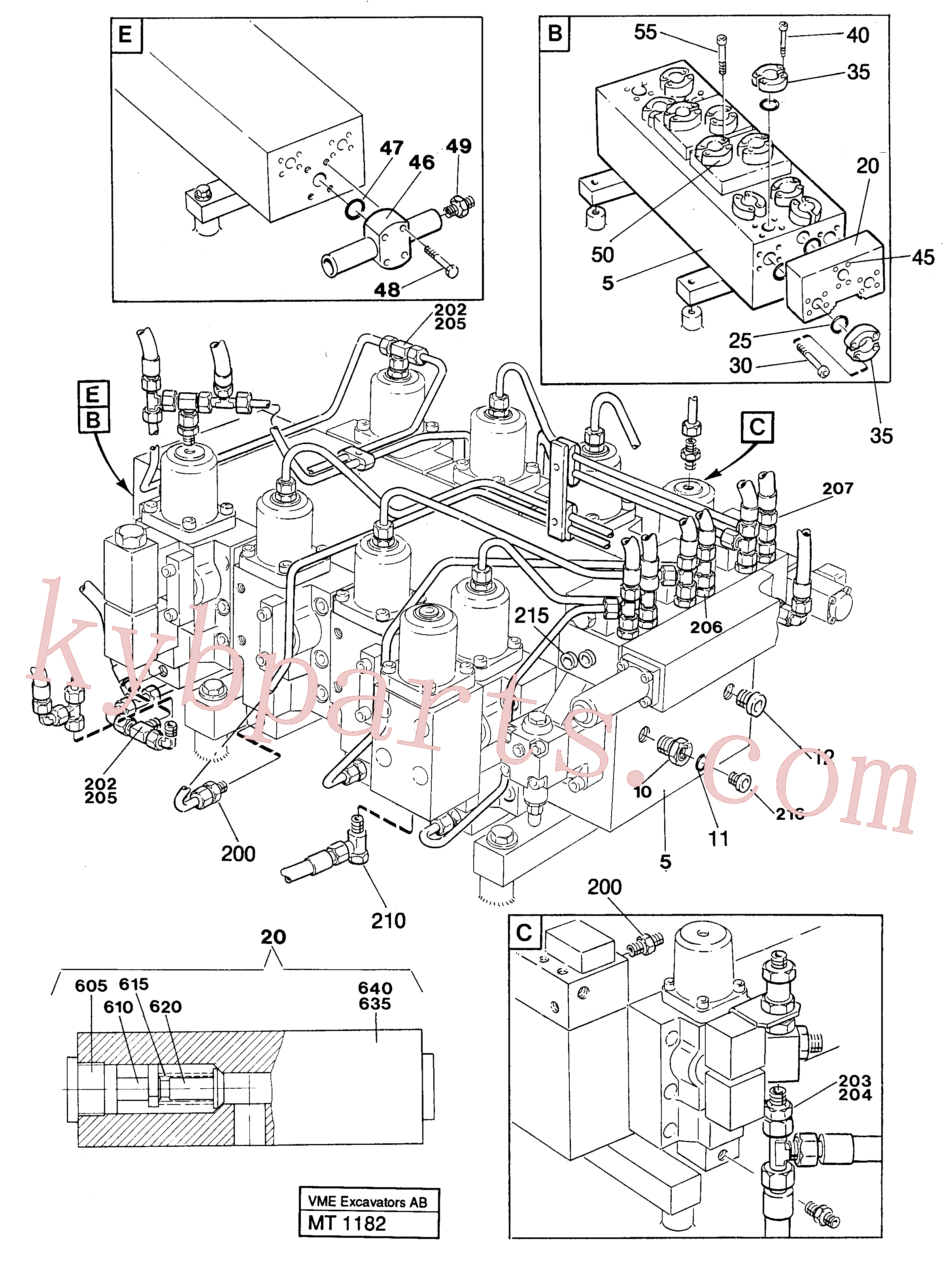 VOE14256455 for Volvo Main valve assembly with connections(MT1182 assembly)
