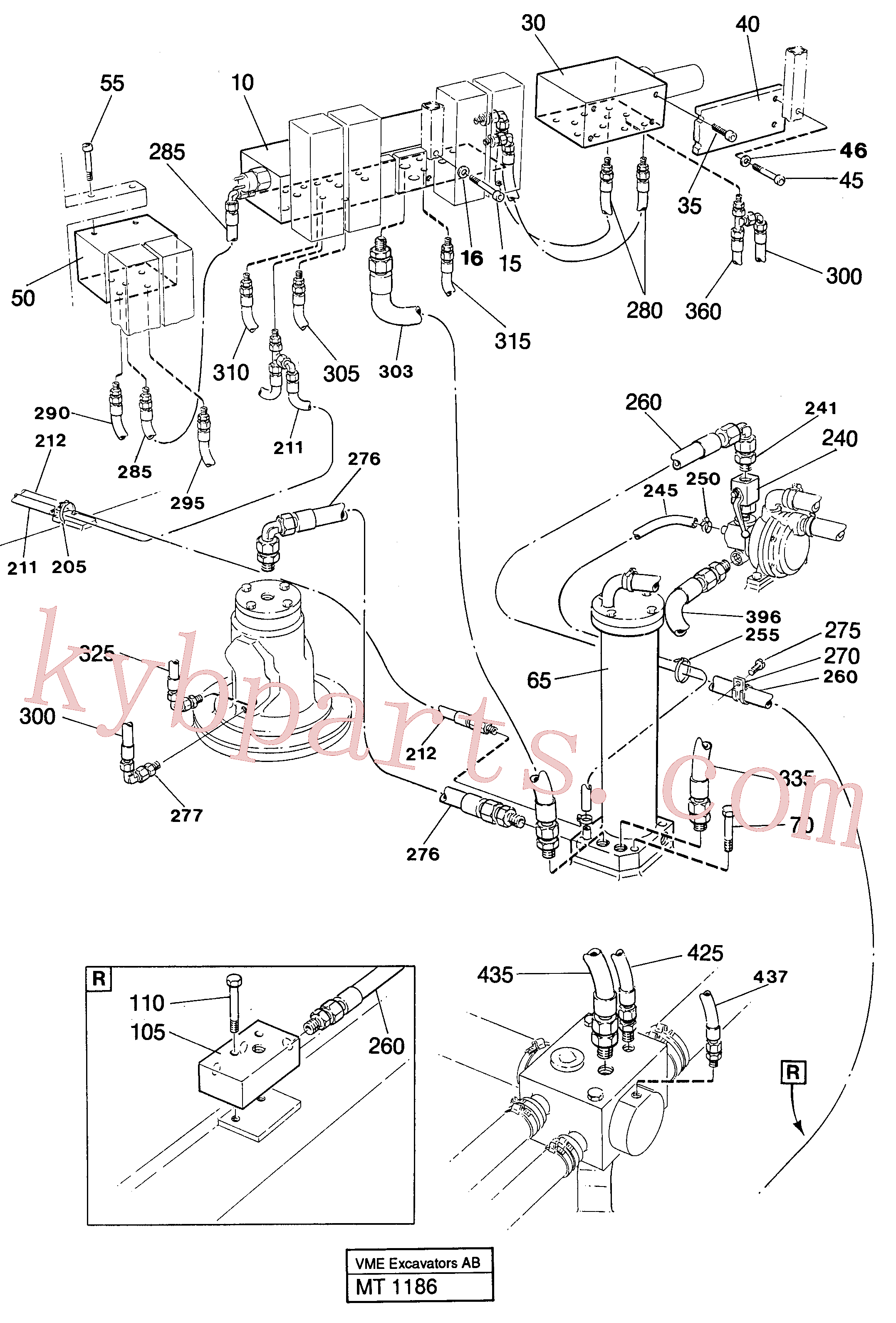 VOE14044825 for Volvo Lines in valve compartment(MT1186 assembly)