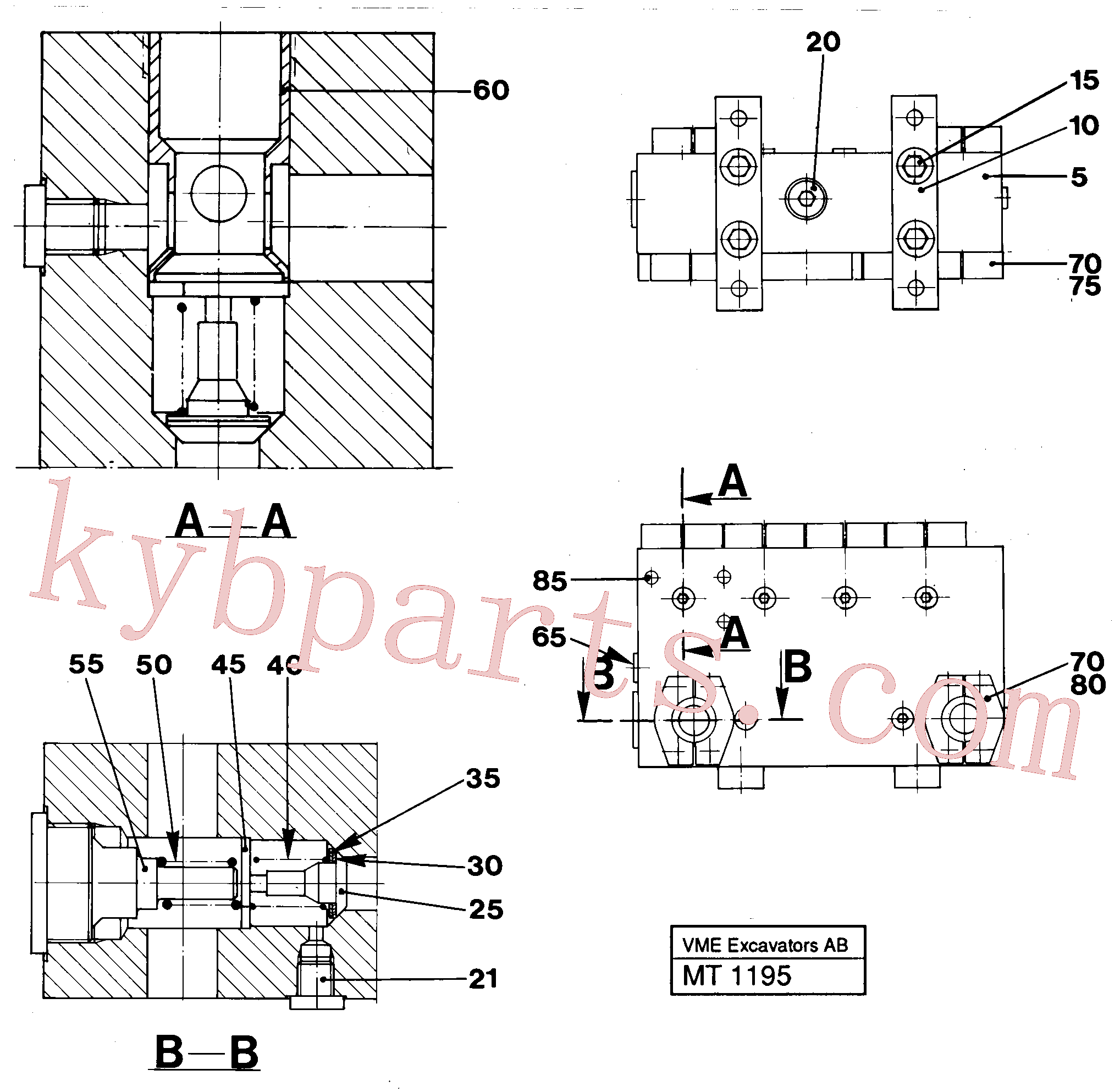 VOE955339 for Volvo Connection board(MT1195 assembly)