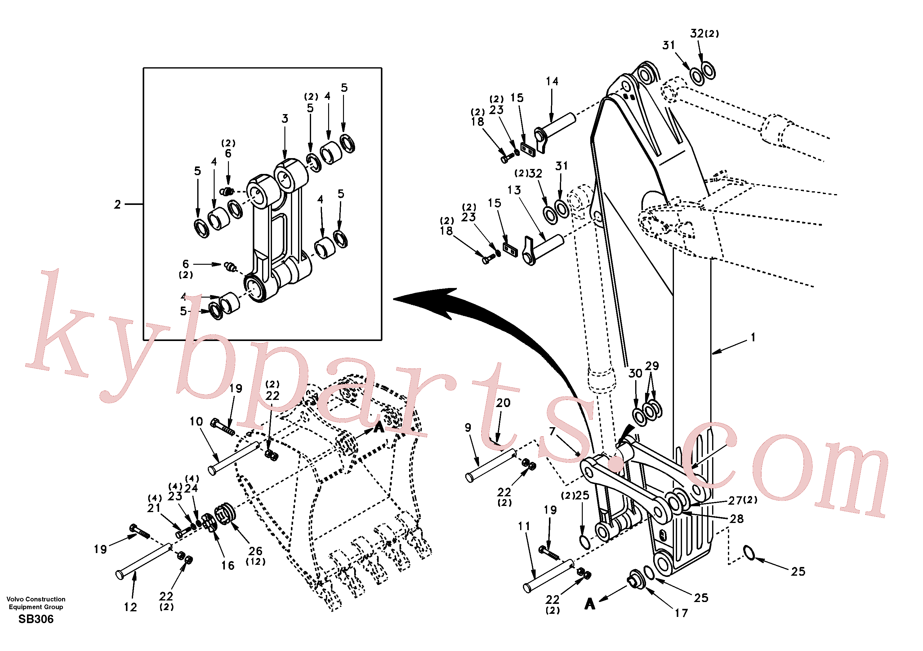 SA1172-00801 for Volvo Links to dipper arm(SB306 assembly)