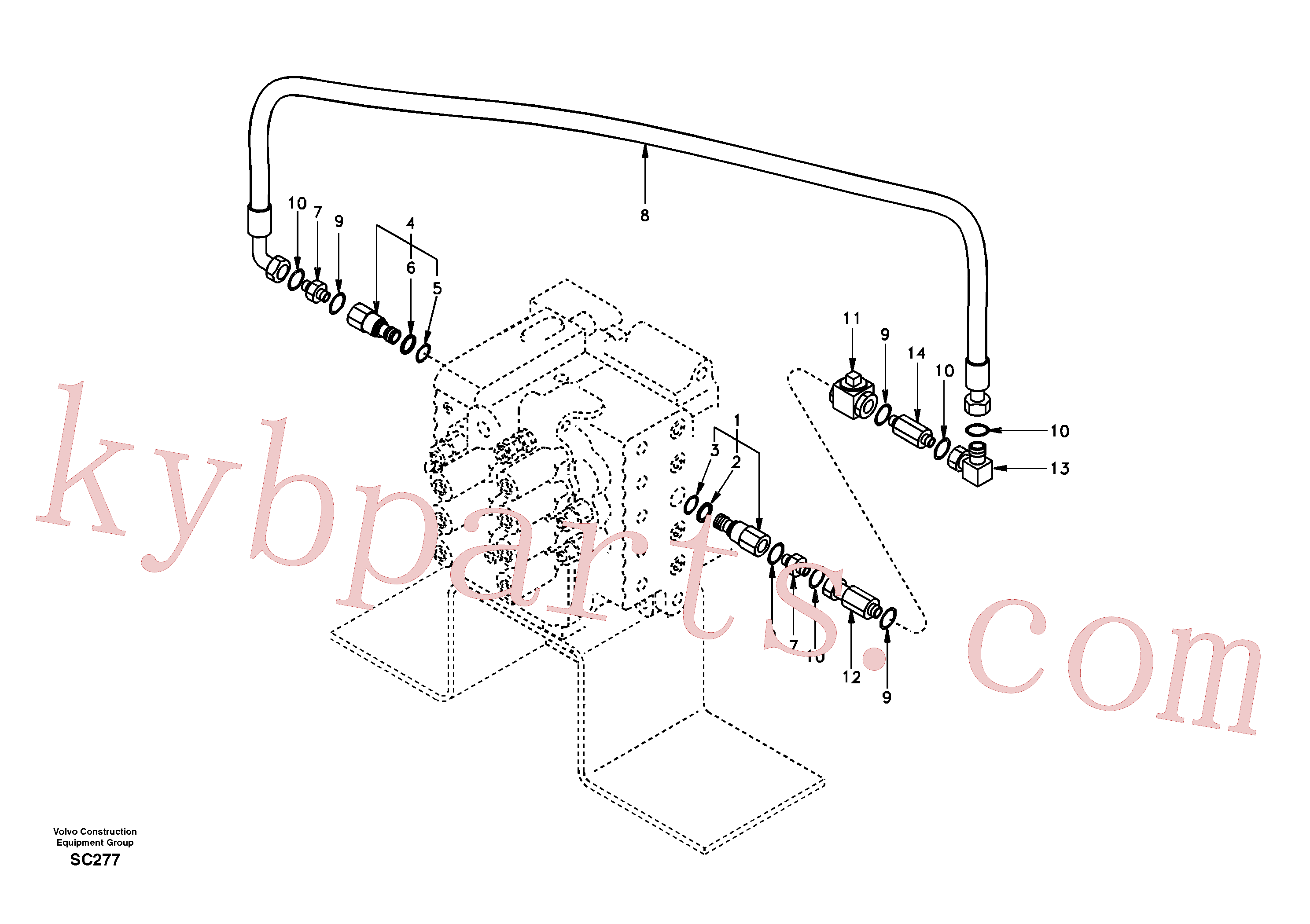 SA9403-04619 for Volvo Working hydraulic, hammer and shear for 2nd pump flow(SC277 assembly)