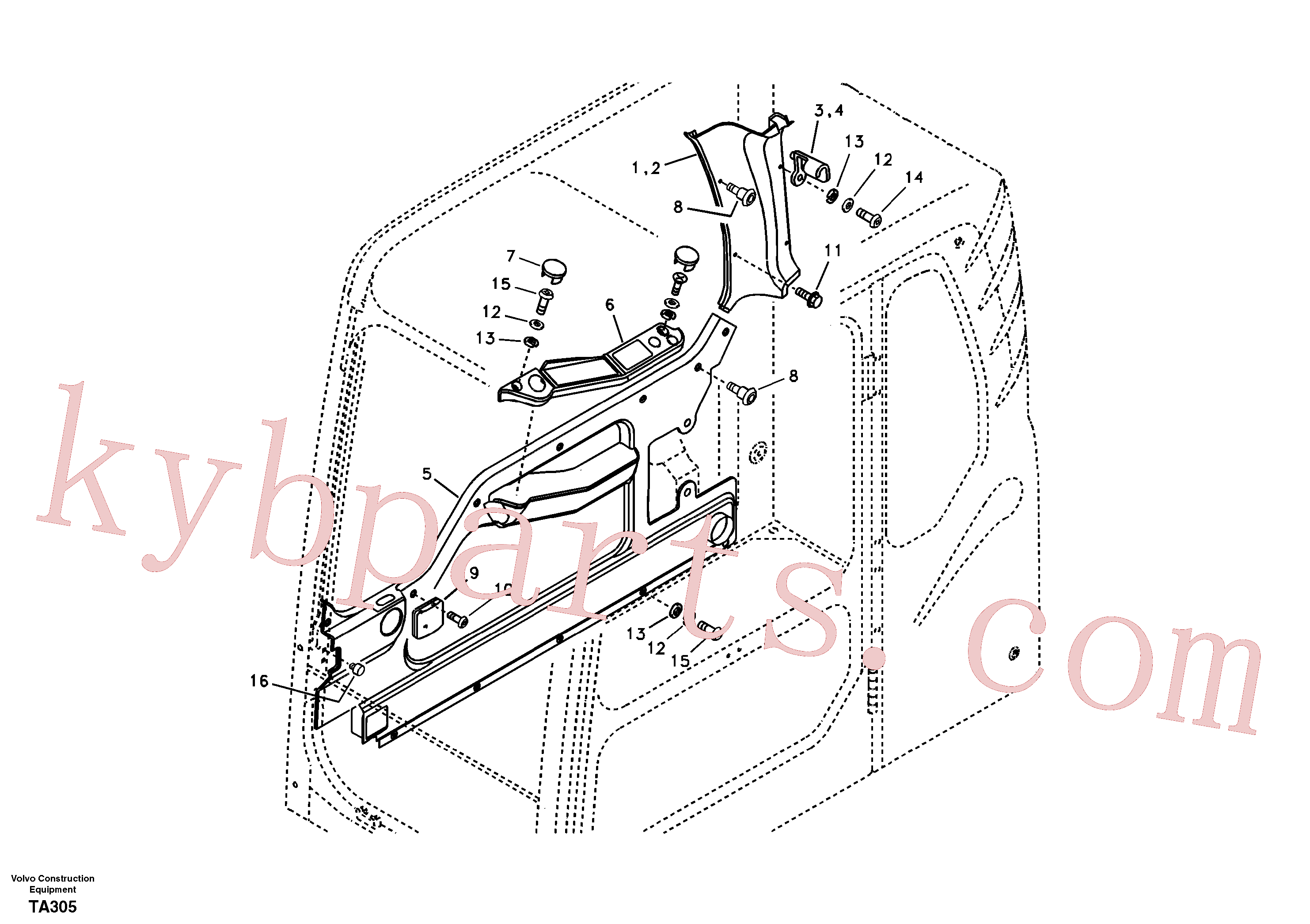 VOE969147 for Volvo Operator's cab(TA305 assembly)