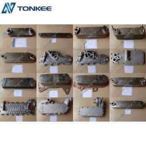 high performence 6D107 engine spare parts oil cooler 1333183 genuine lower price HINO oil cooler cover for truck