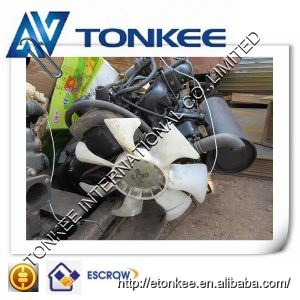 Second hand engine assy 3D84E-3 complete engine assy for hydraulic excavator